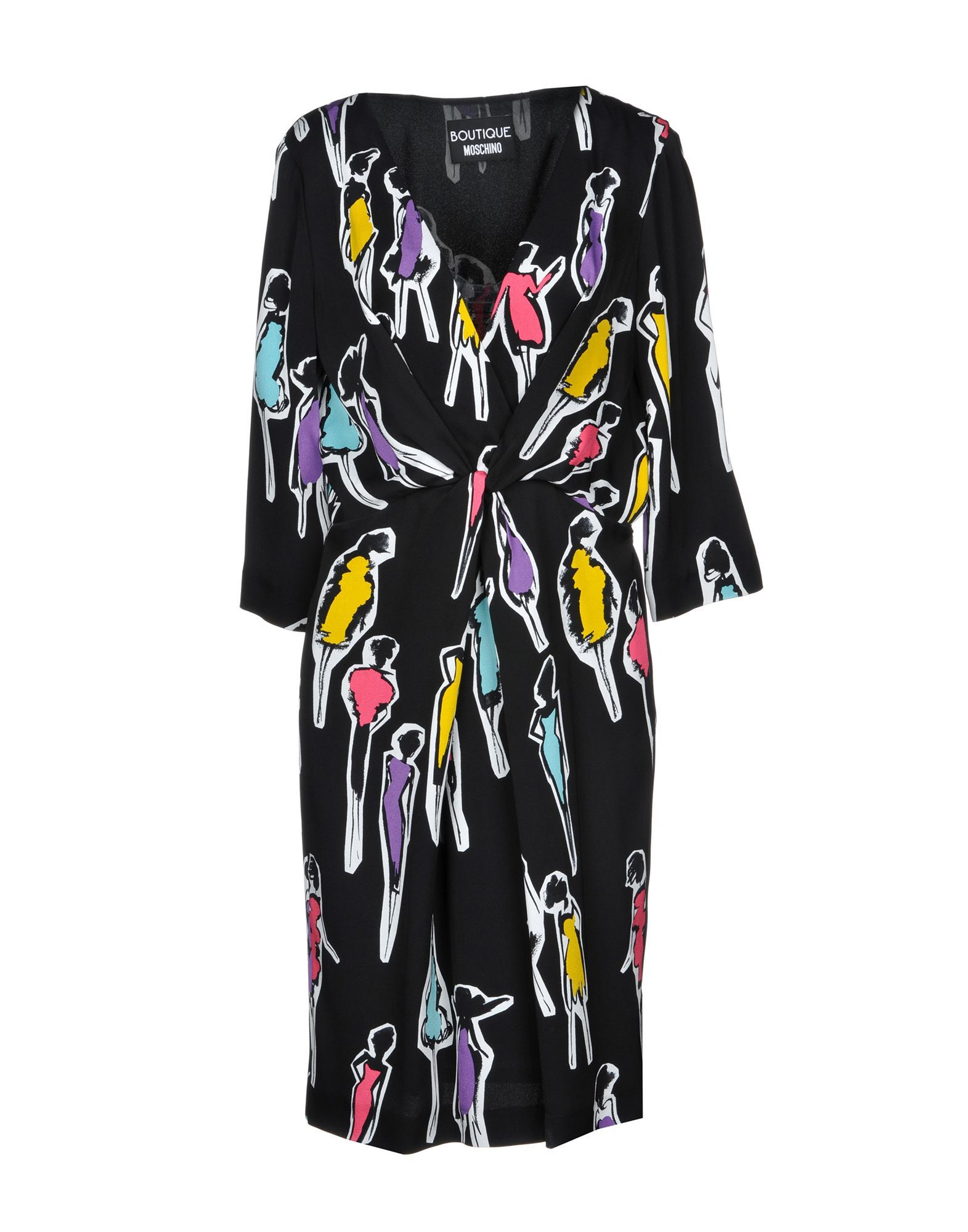 Boutique Moschino Black Print Long Sleeve Dress