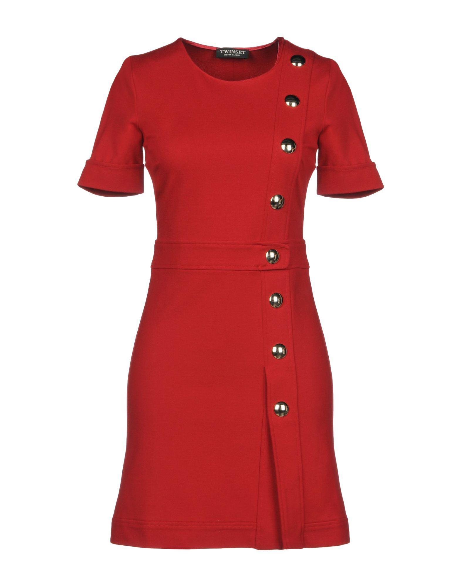 Twinset Red Short Sleeve Dress
