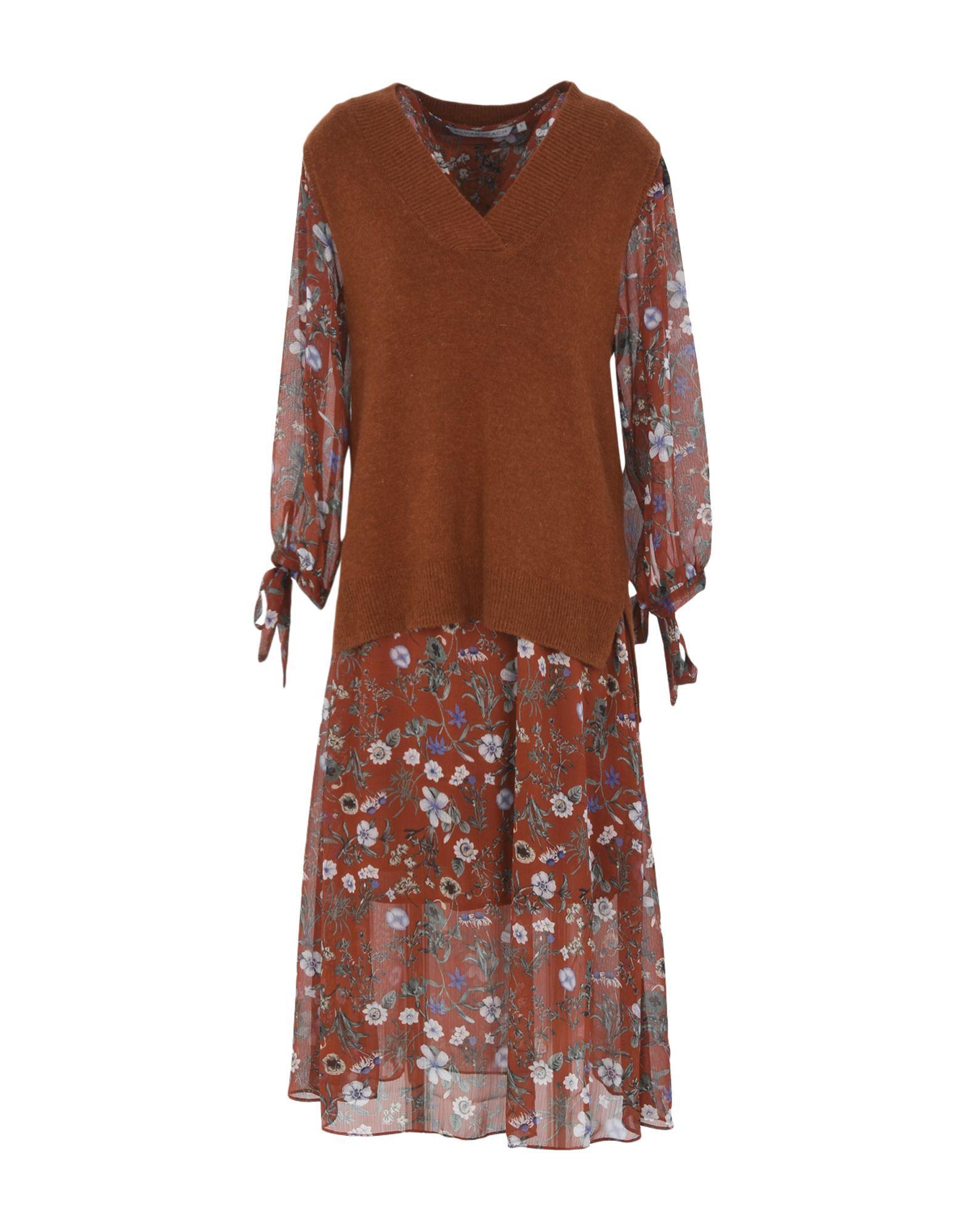 Silvian Heach Brown Print Dress