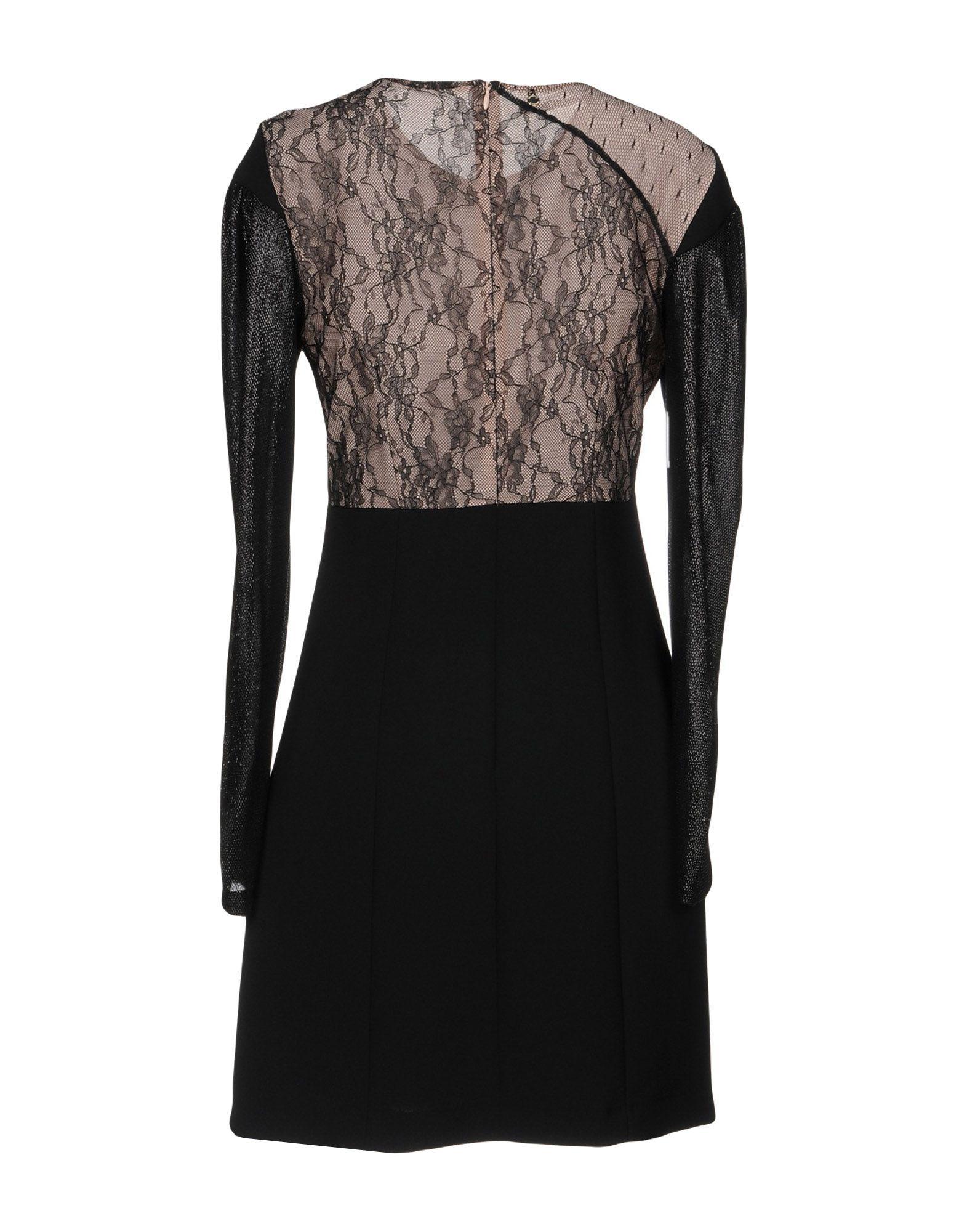 Annarita N Black Lace Long Sleeve Dress
