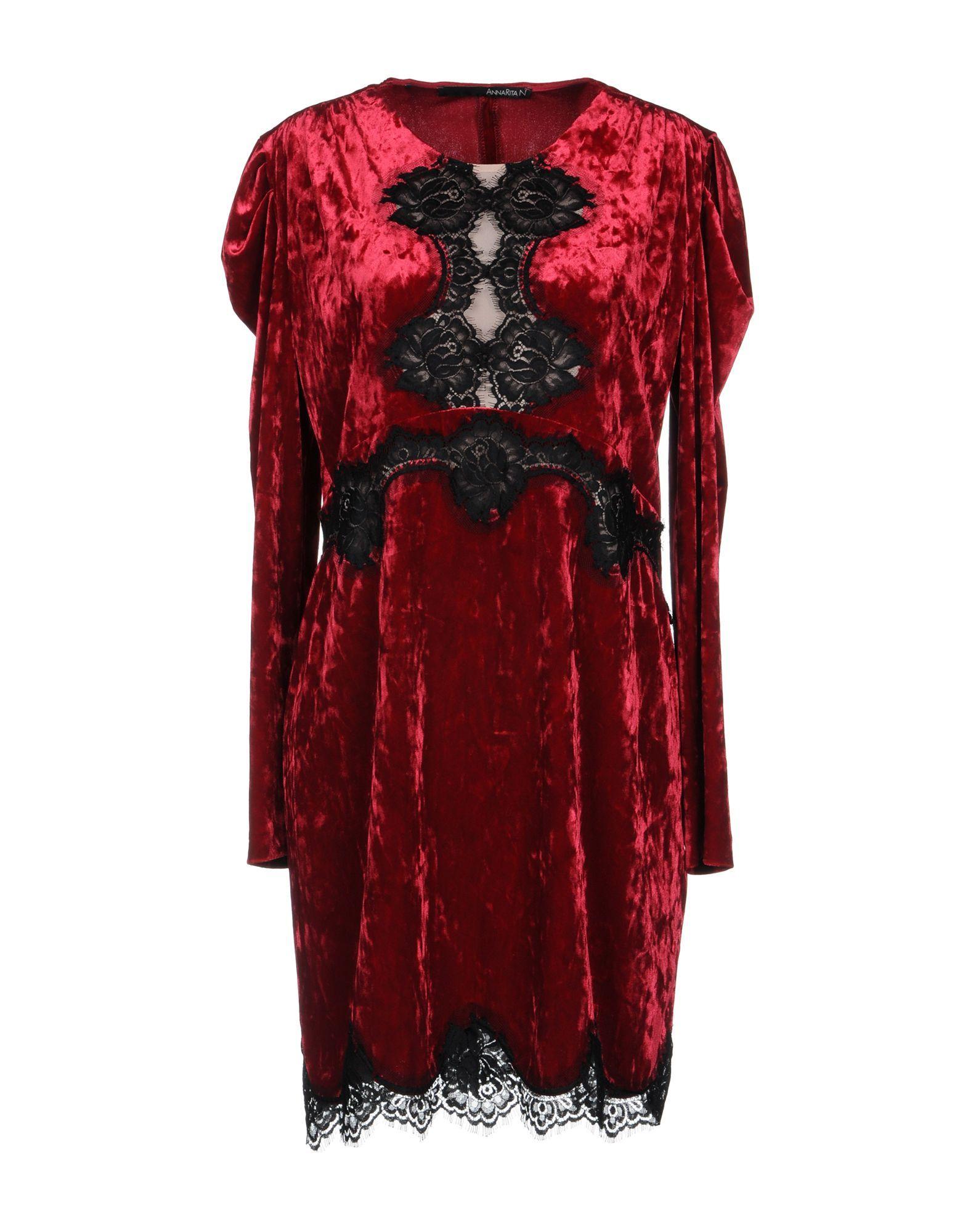 Annarita N Garnet Lace And Chenille Long Sleeve Dress