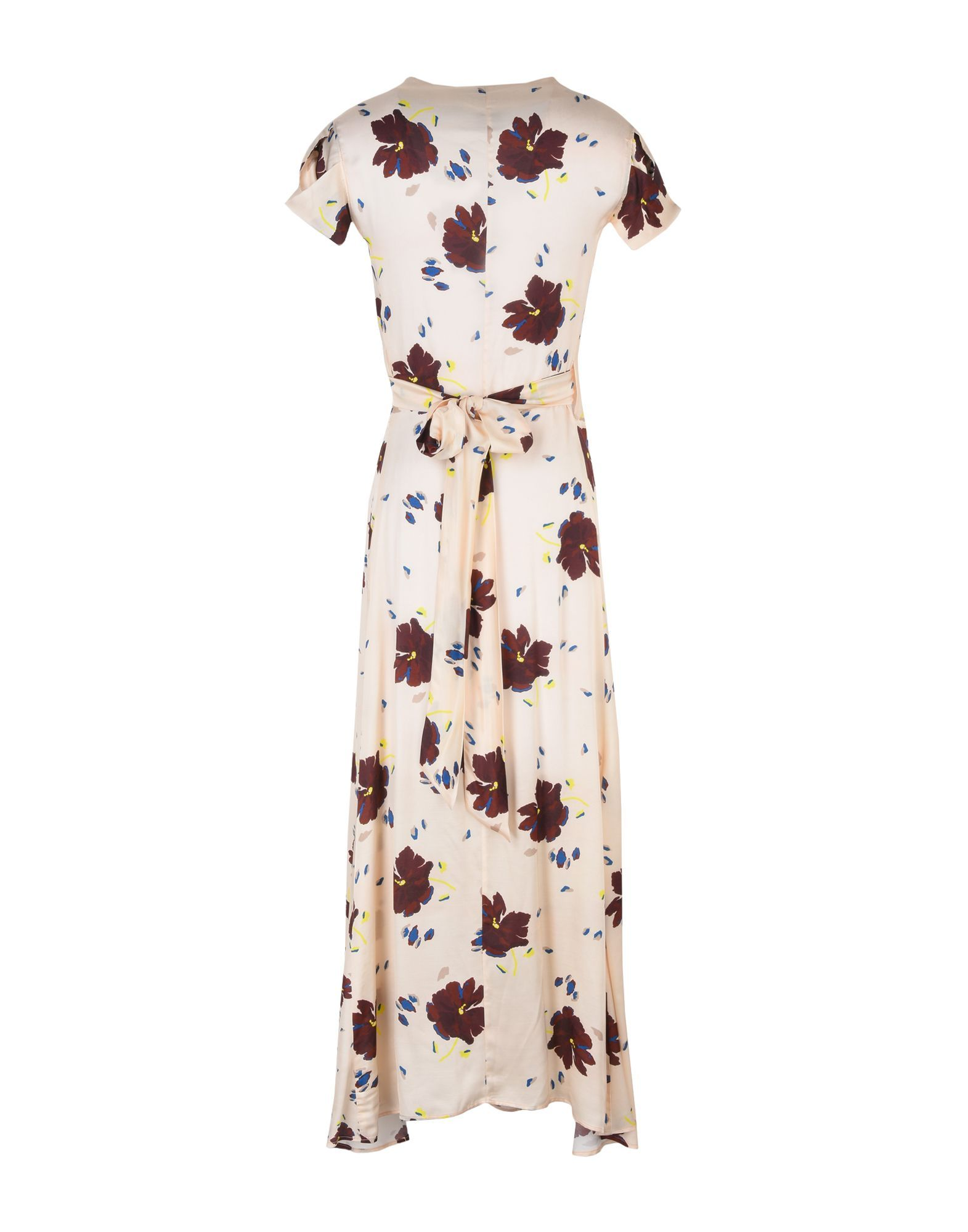 Alysi Beige Print Full Length Dress