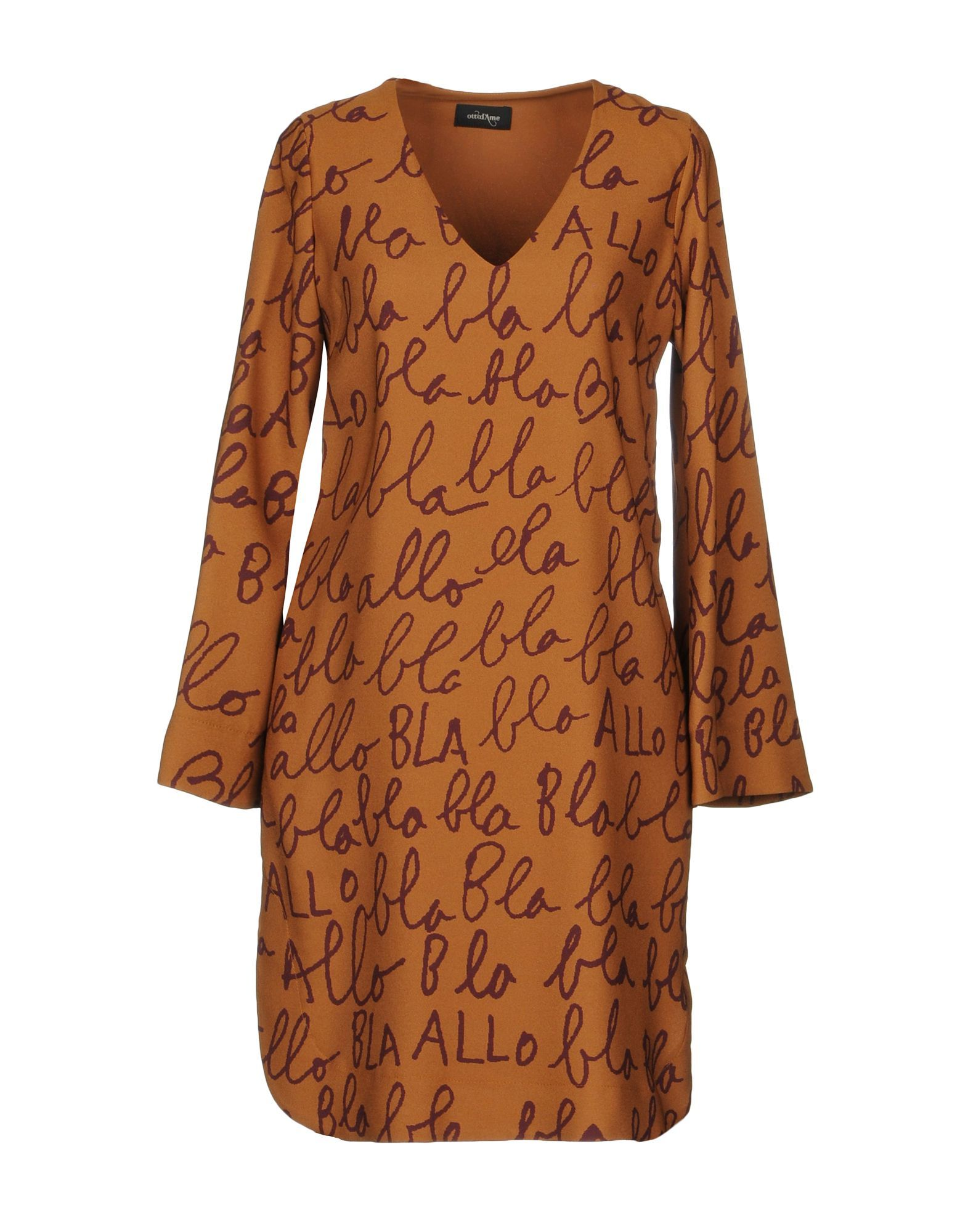DRESSES Ottod'Ame Brown Woman Polyester