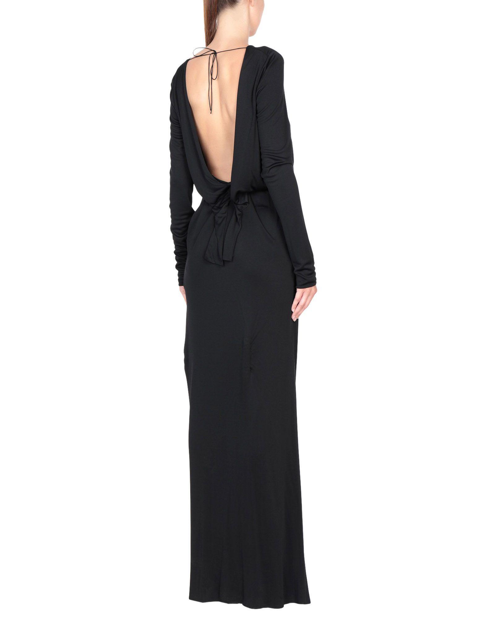 Emilio Pucci Black Long Sleeve Full Length Dress