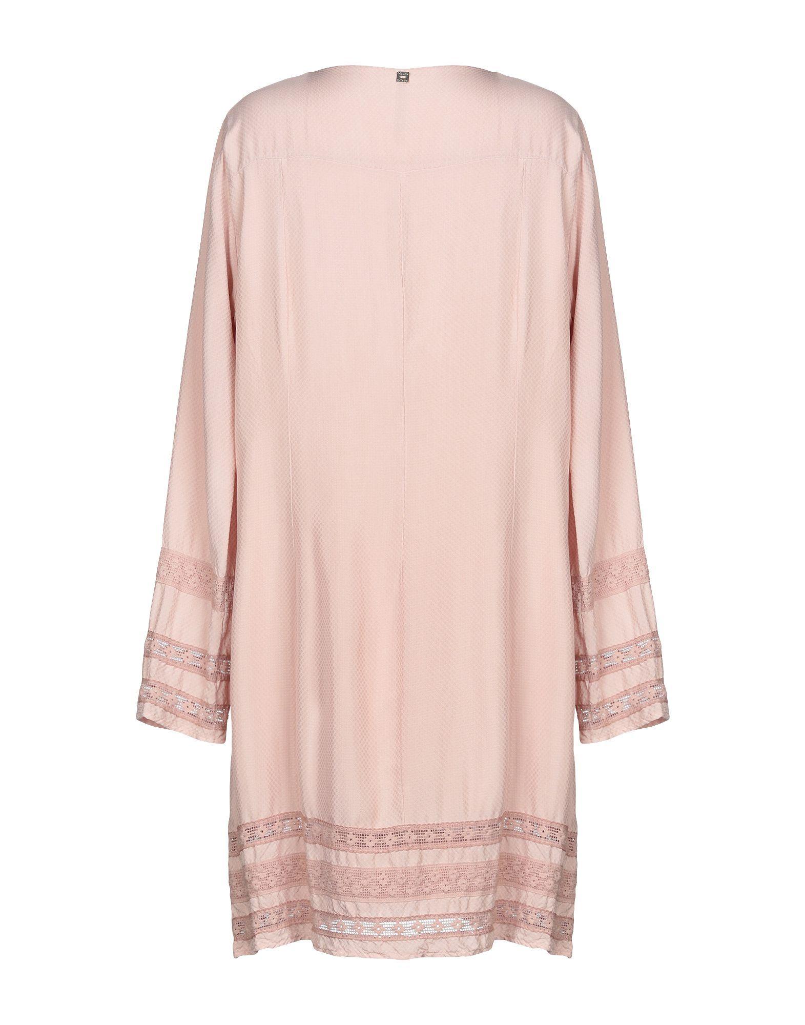 Manila Grace Pale Pink Long Sleeve Dress