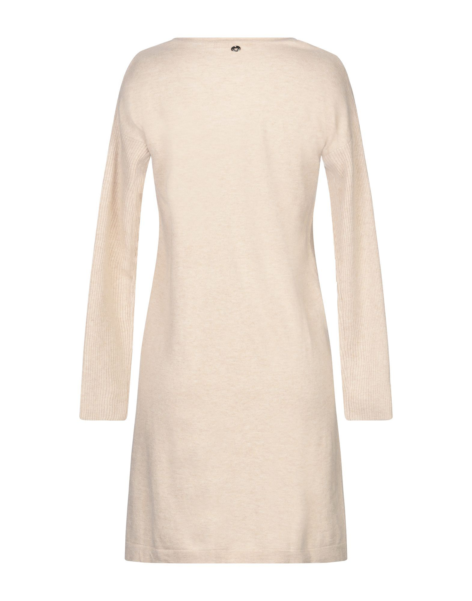 Twinset Underwear Beige Knit Long Sleeve Dress