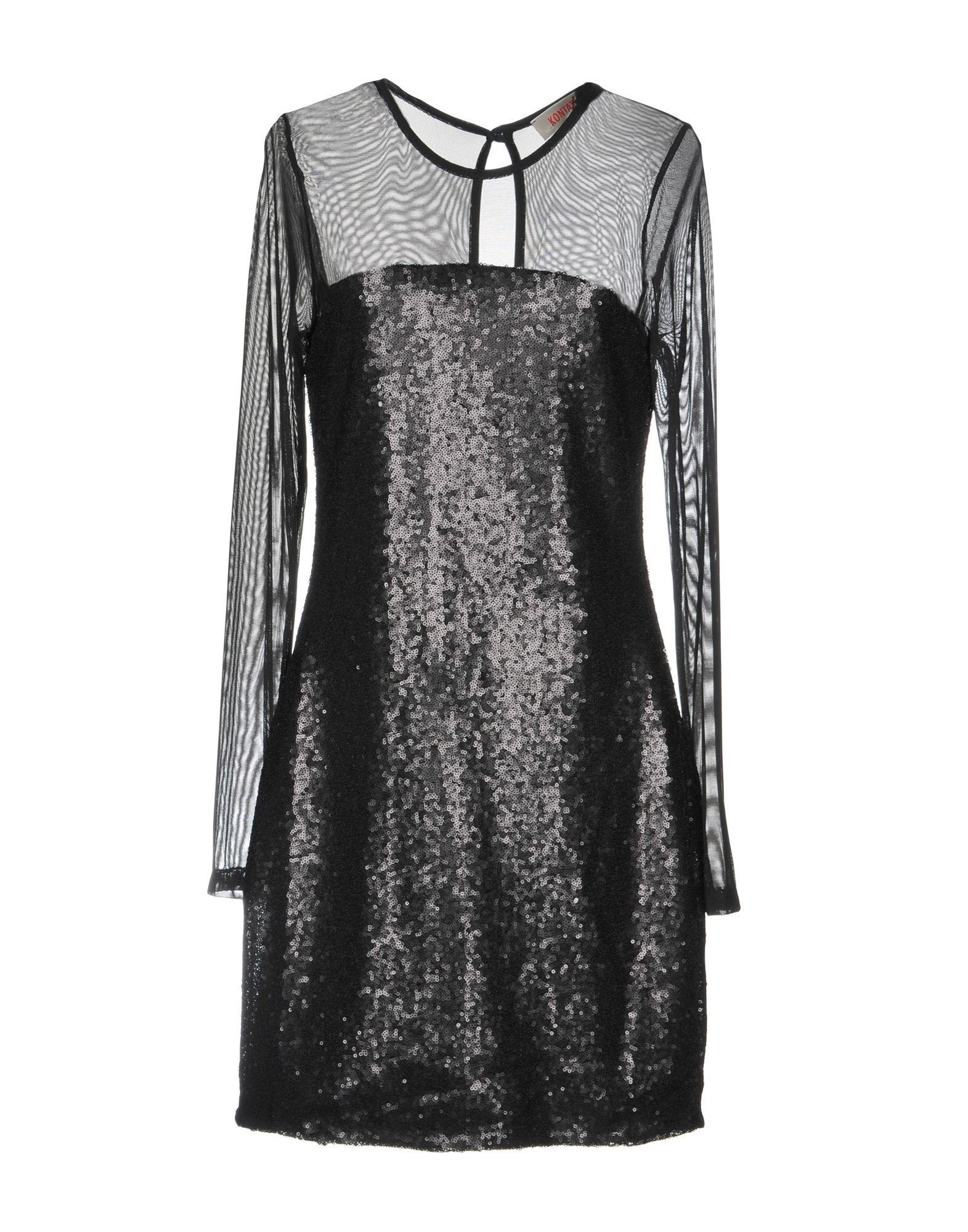 DRESSES Kontatto Black Woman Polyester
