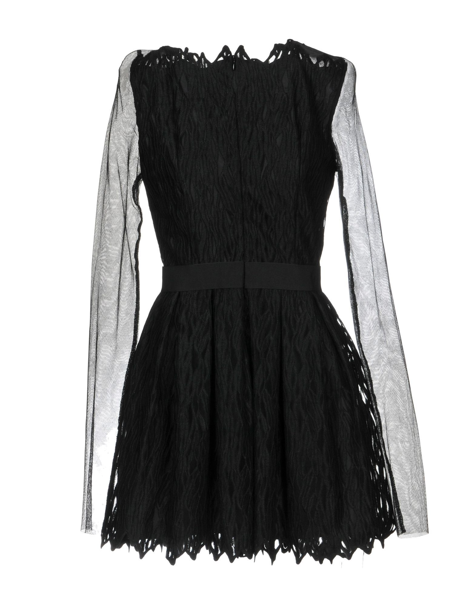 Plein Sud Black Sheer Sleeve Dress