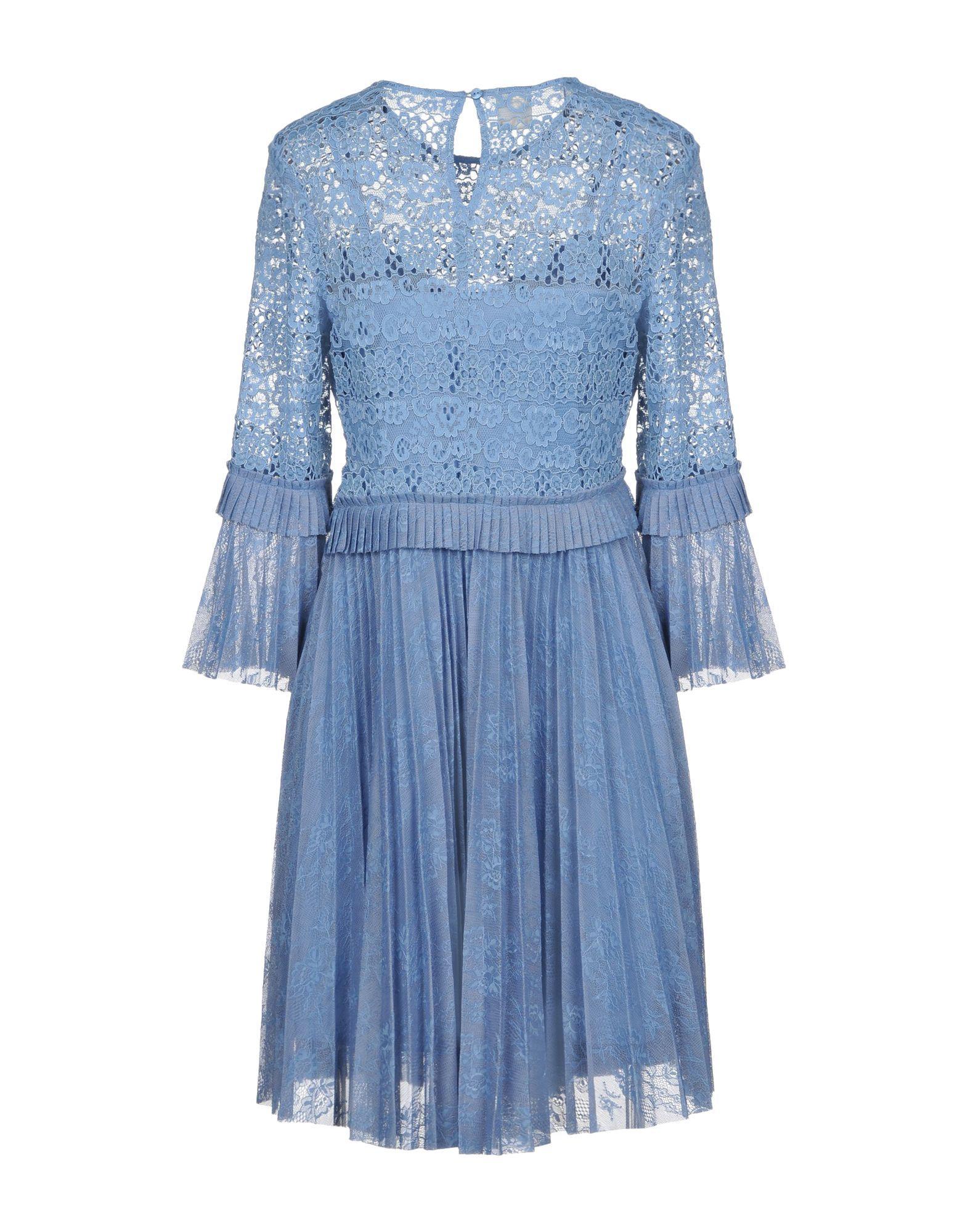 Pinko Sky Blue Long Sleeve Short Dress