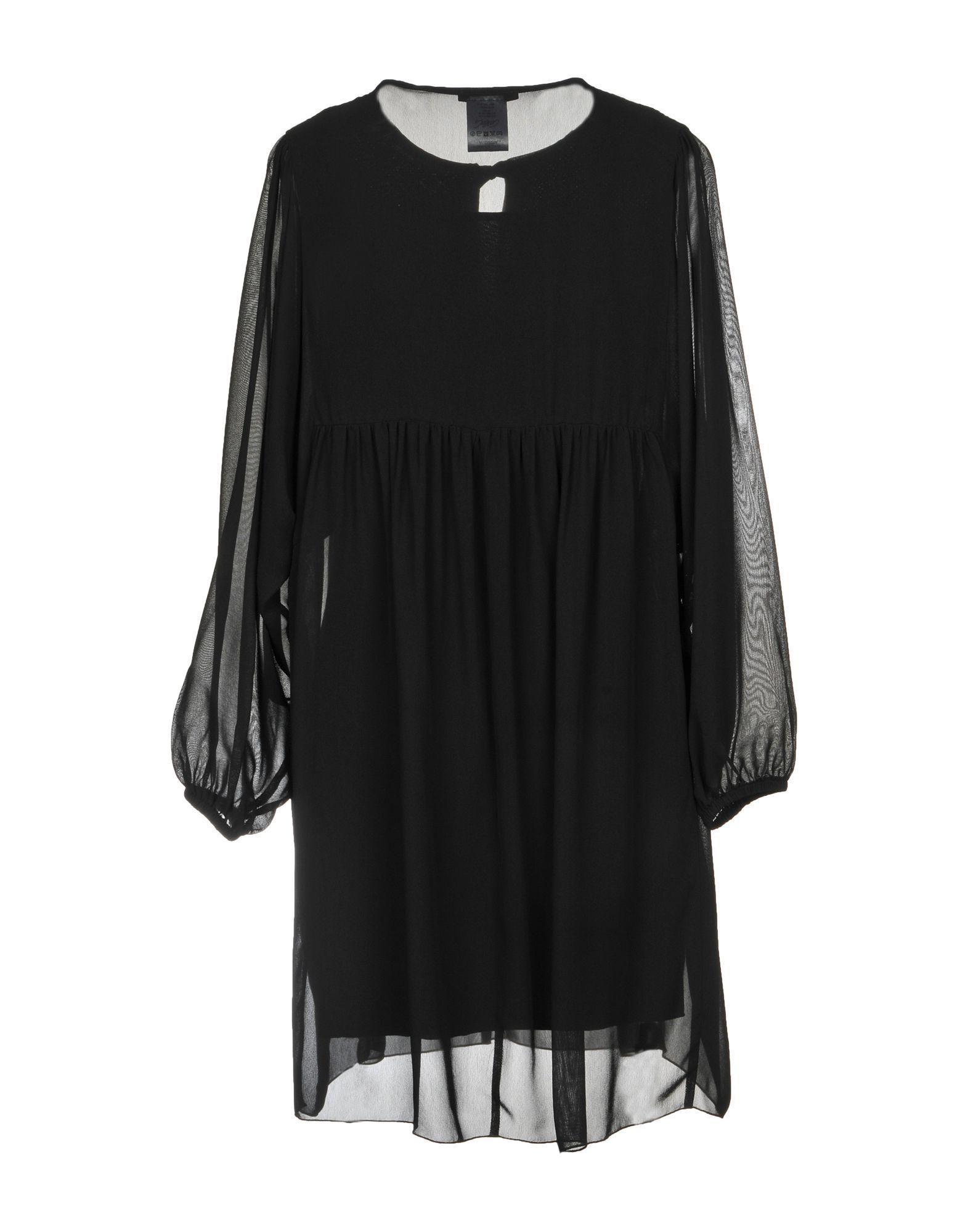 DRESSES Carla G. Black Woman Viscose