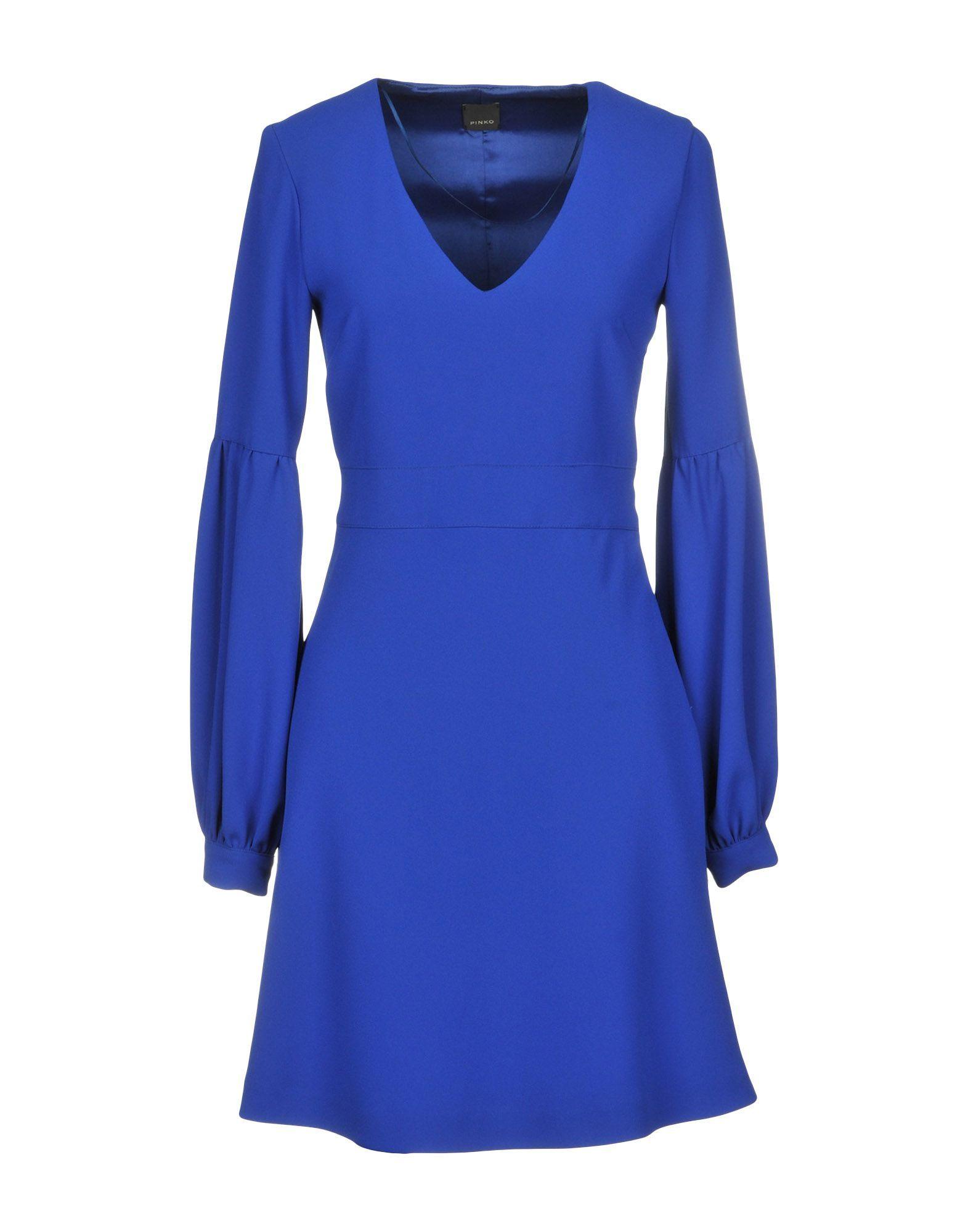 Pinko Blue Long Sleeve Dress