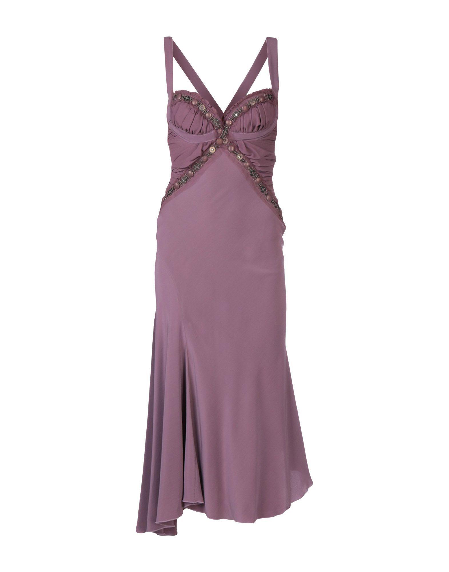 DRESSES .Amen. Purple Woman Silk