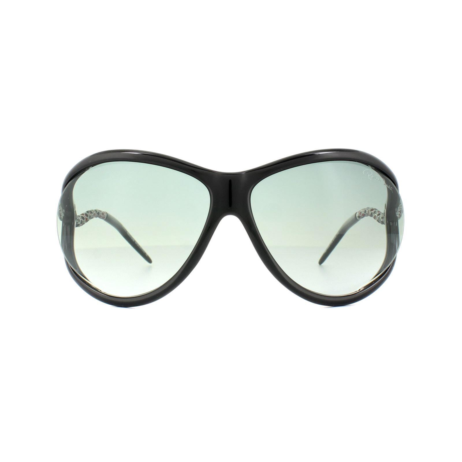 Roberto Cavalli Sunglasses Caph 853S 01B Shiny Black Grey Gradient