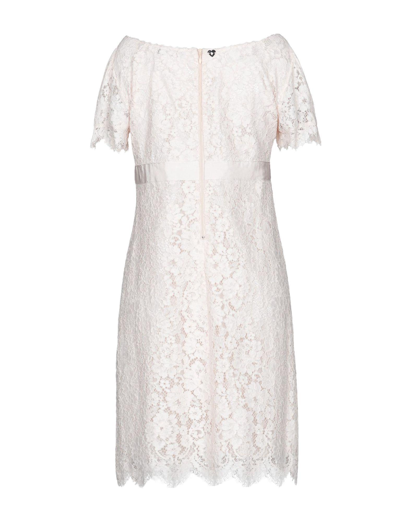 Twinset Light Pink Cotton Lace Dress