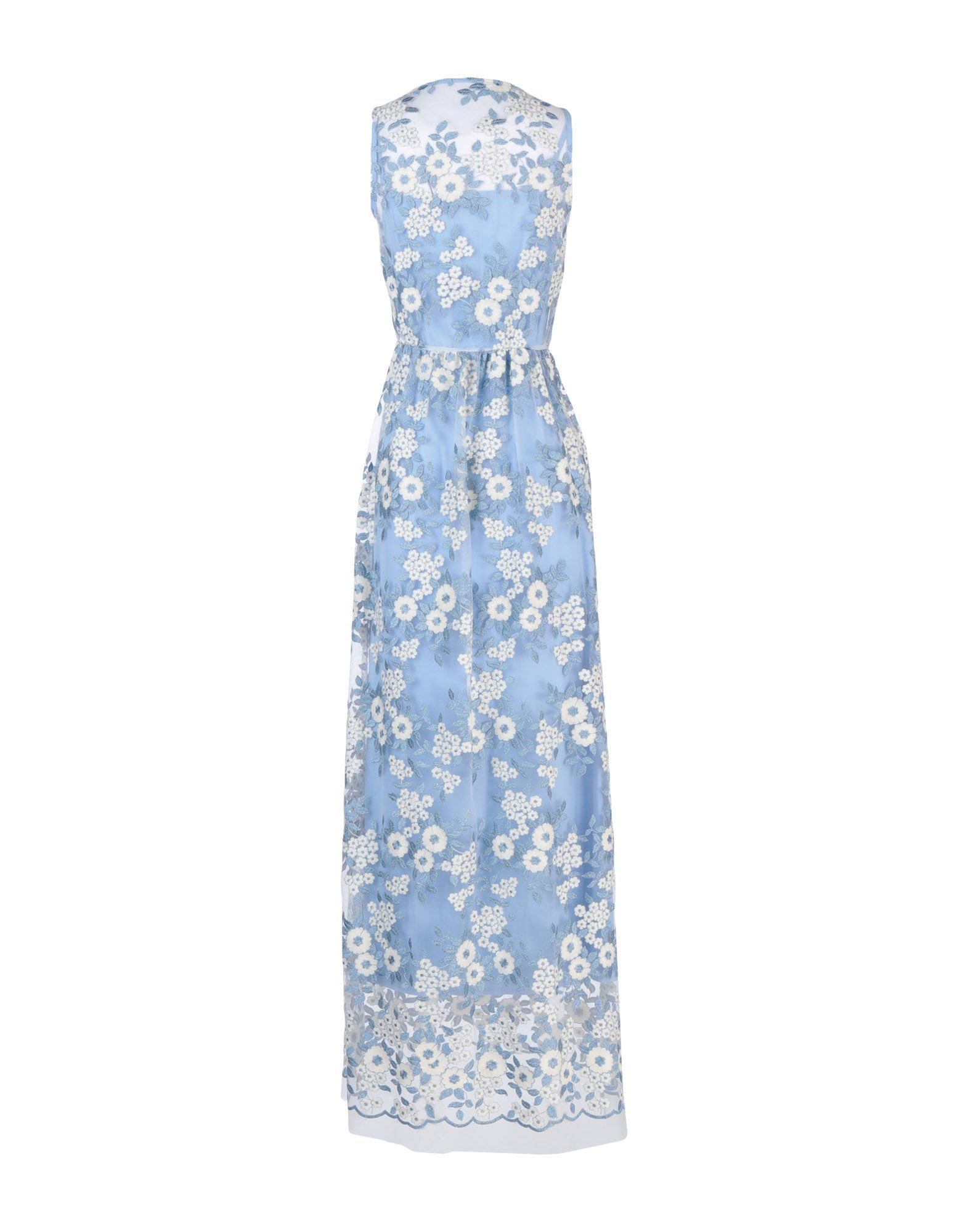 Twenty Easy By Kaos Sky Blue Floral Design Cotton Dress