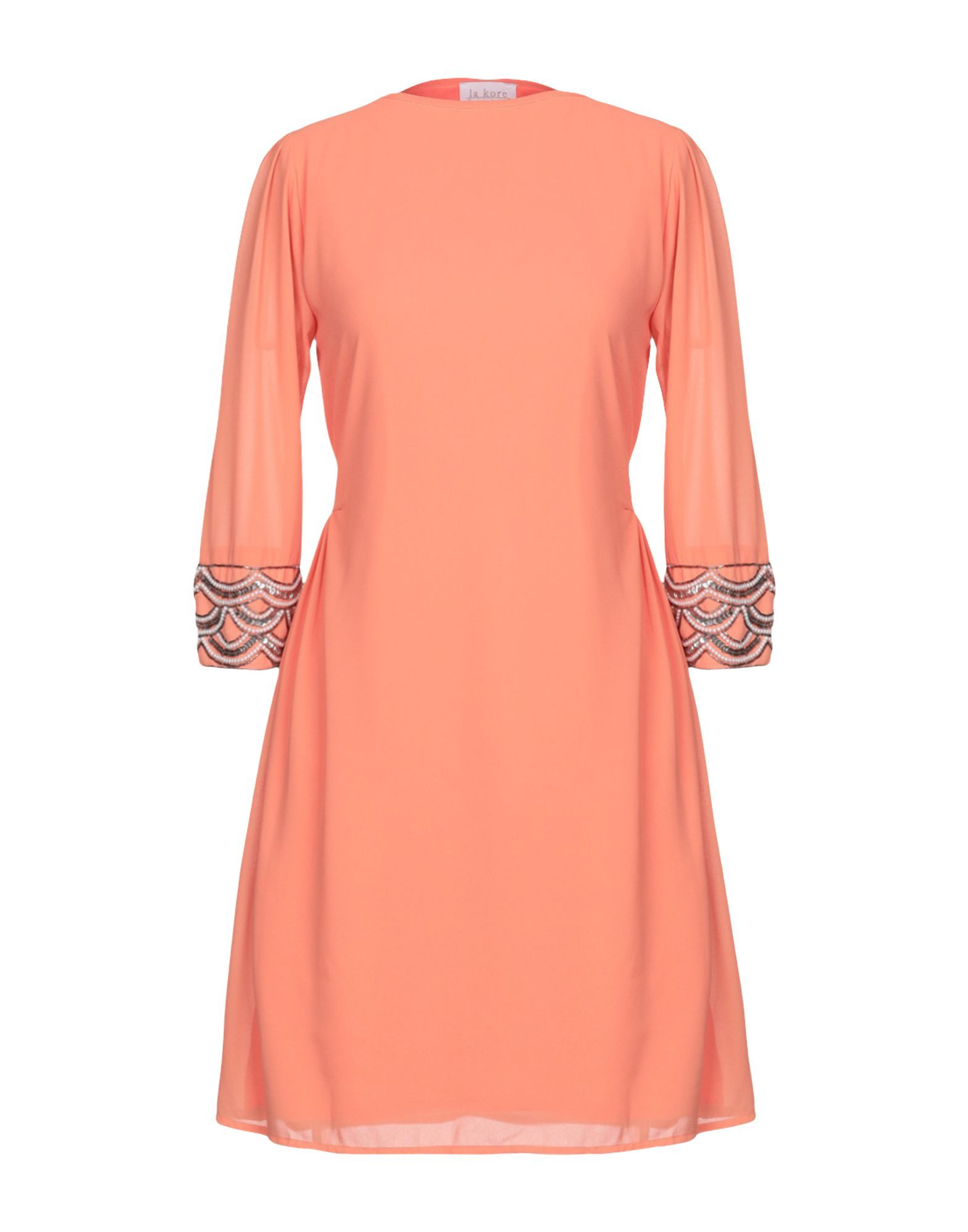 La Kore Salmon Pink Embellished Dress