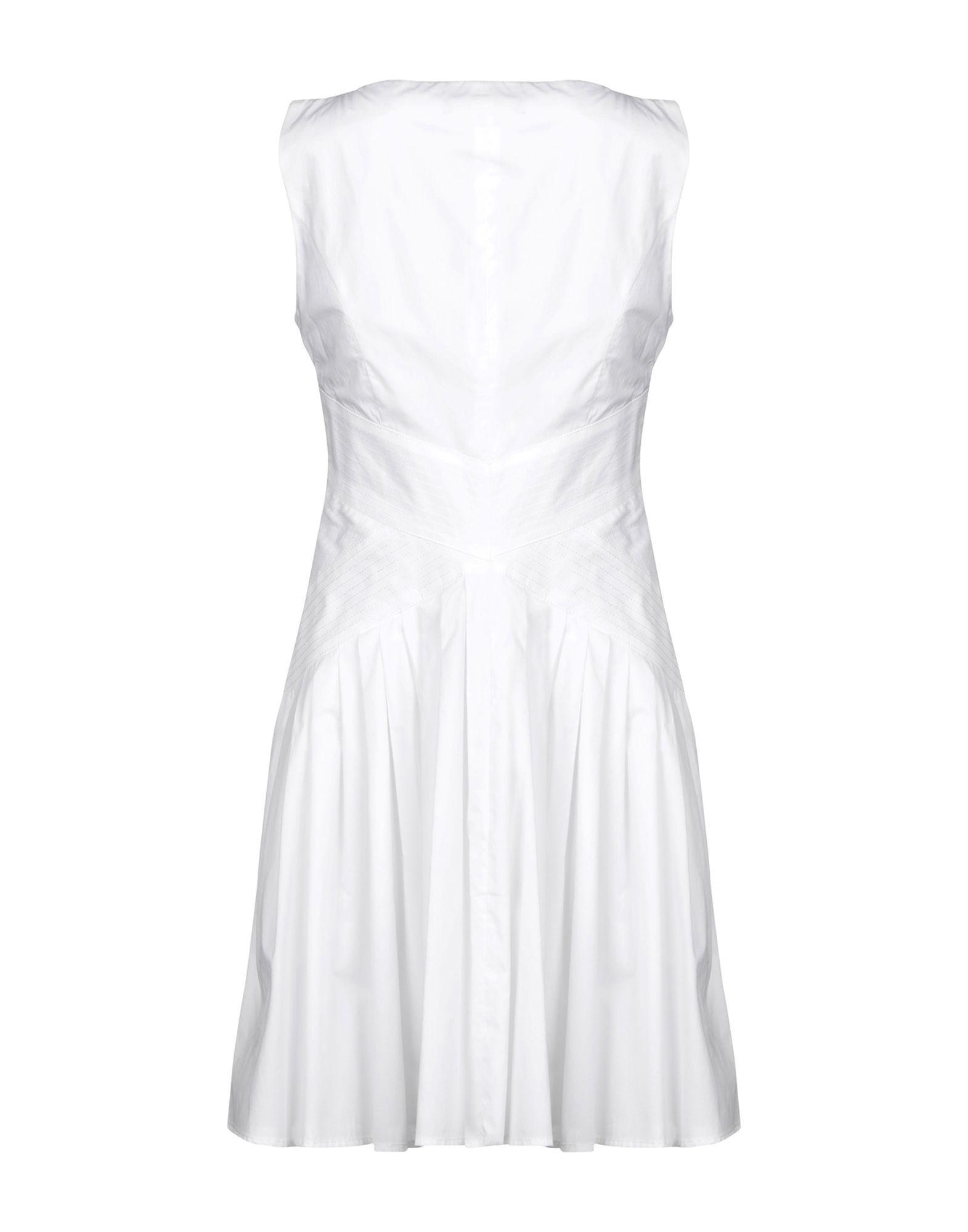 Elisabetta Franchi White Cotton Short Dress