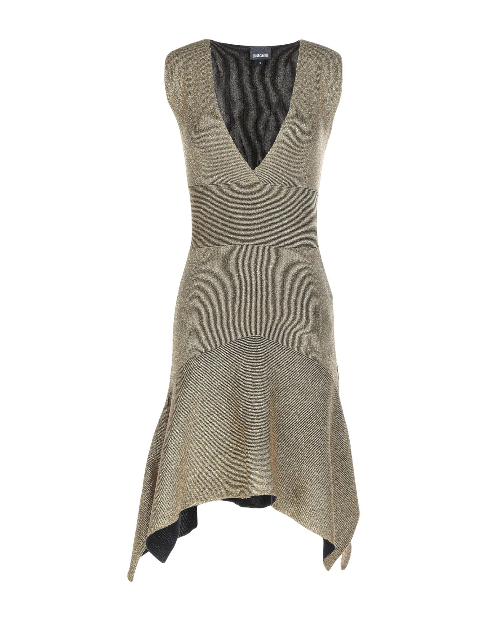 Just Cavalli Gold Short Dress