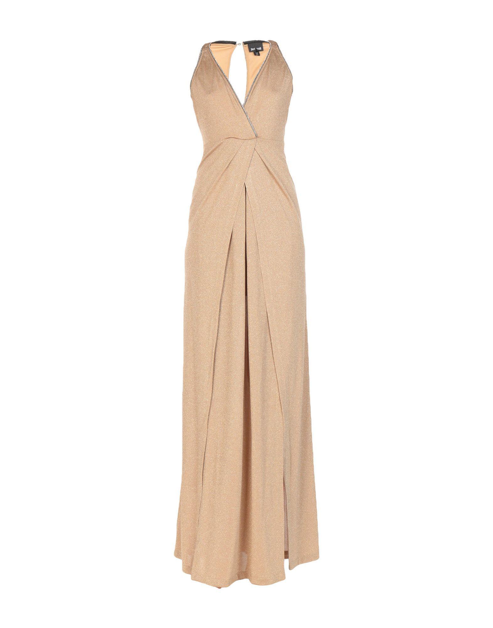 Just Cavalli Camel Full Length Dress