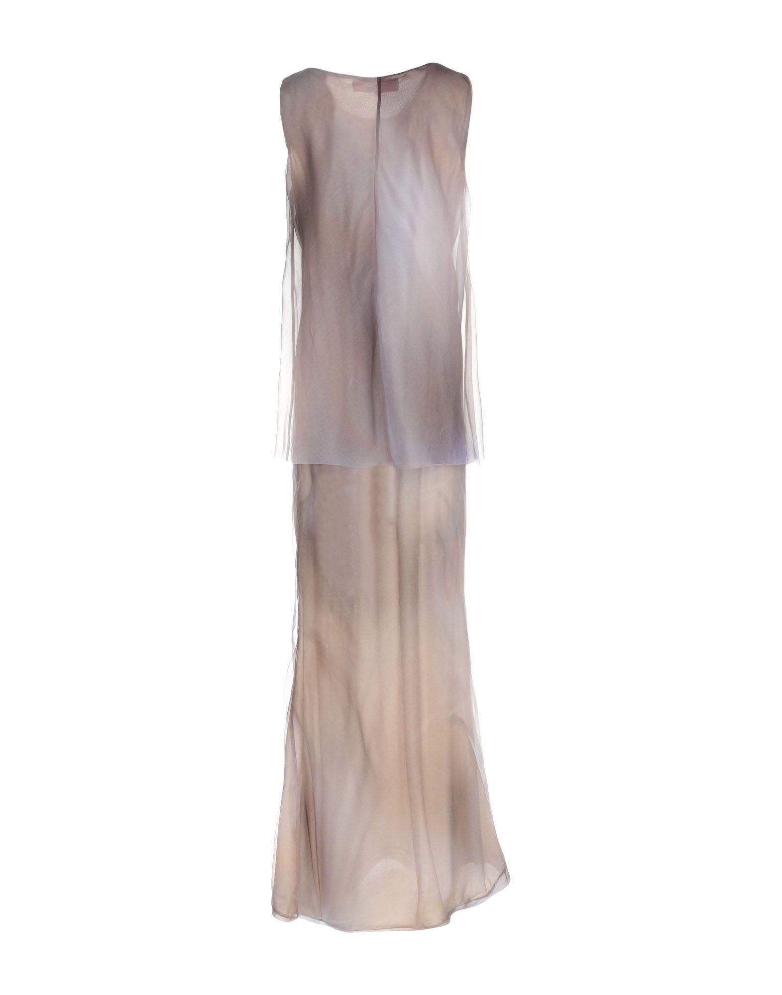 DRESSES Cristina Rocca Grey Woman Silk