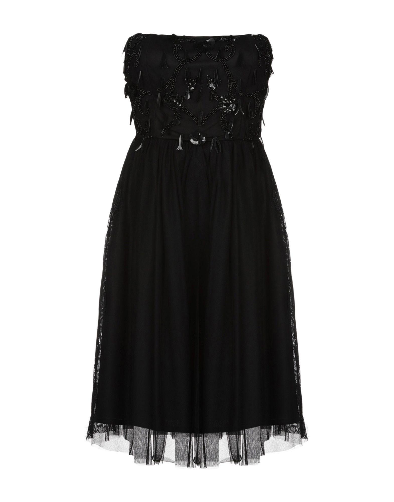 La Kore Black Tulle Strapless Dress
