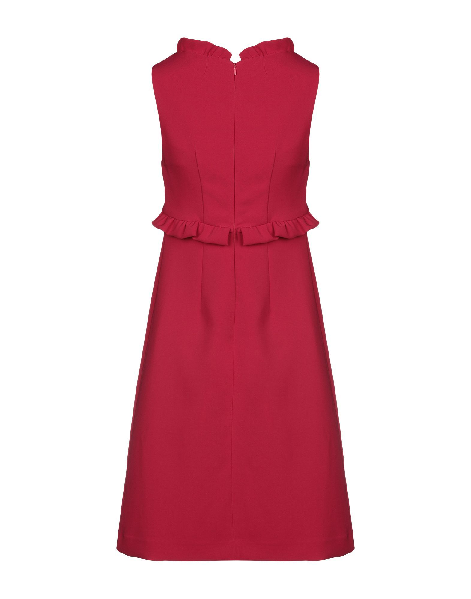 P.A.R.O.S.H. Garnet Crepe Ruffled Dress