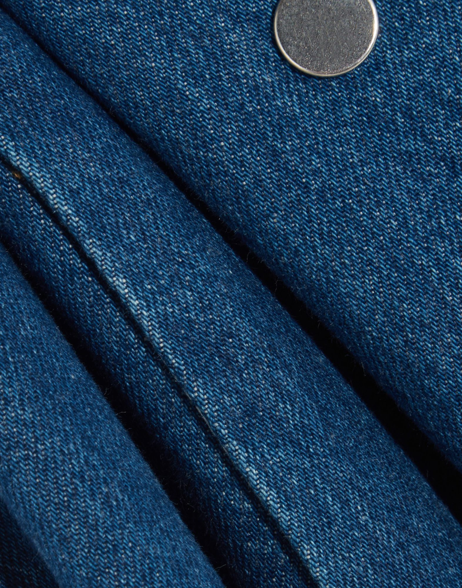 Kéji Blue Denim Sleeveless Shirt Dress
