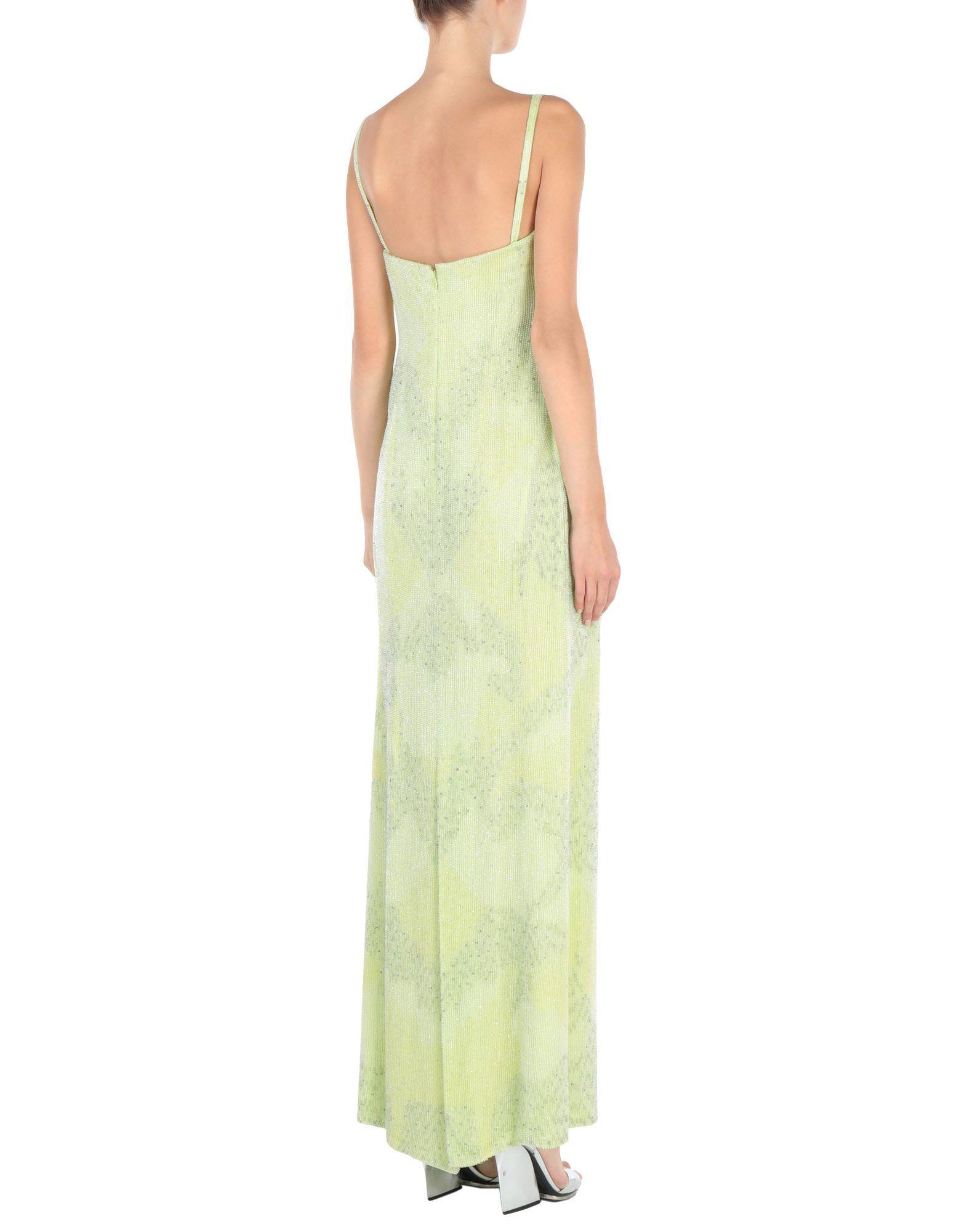 Giorgio Armani Light Green Silk Slip Dress