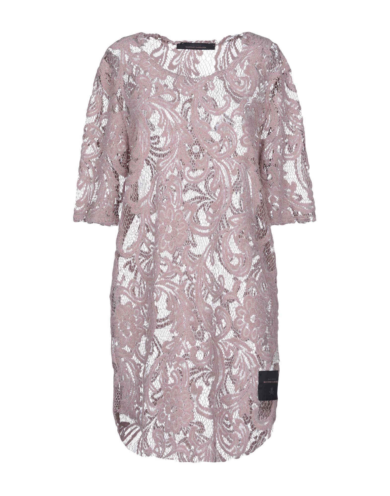 Bad Spirit Pastel Pink Cotton Lace Short Sleeve Dress