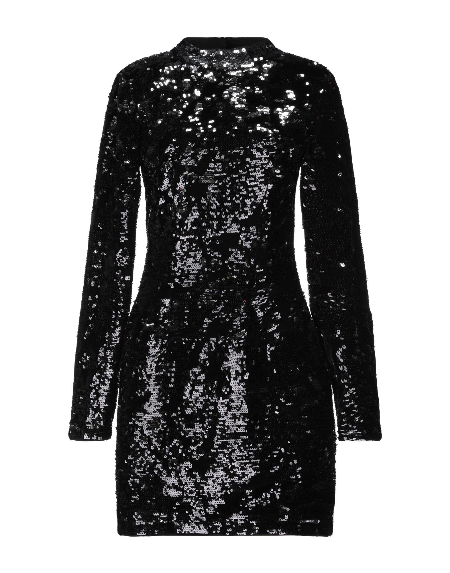 Guess Black Sequin Long Sleeve Dress