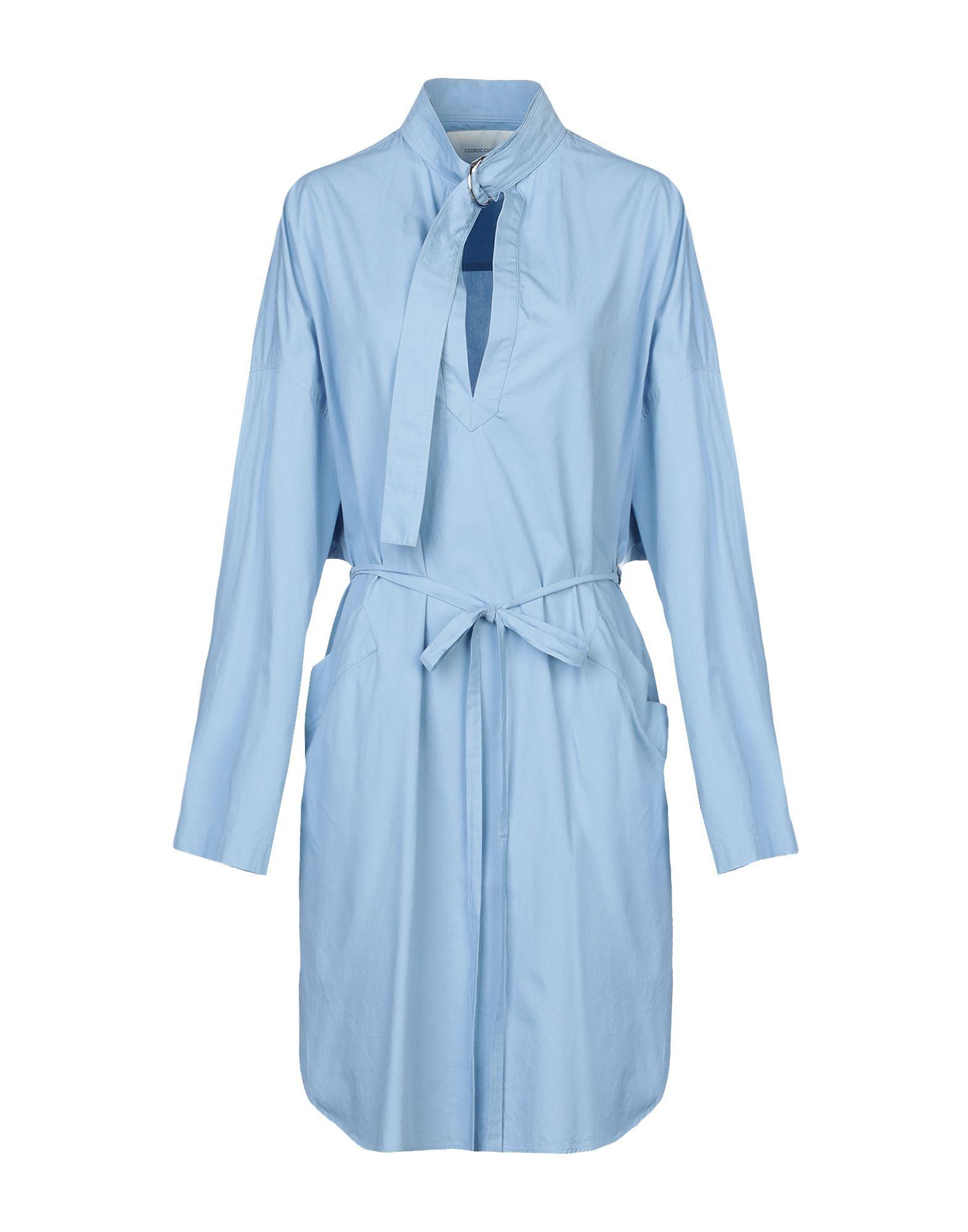 Cedric Charlier Pastel Blue Cotton Dress