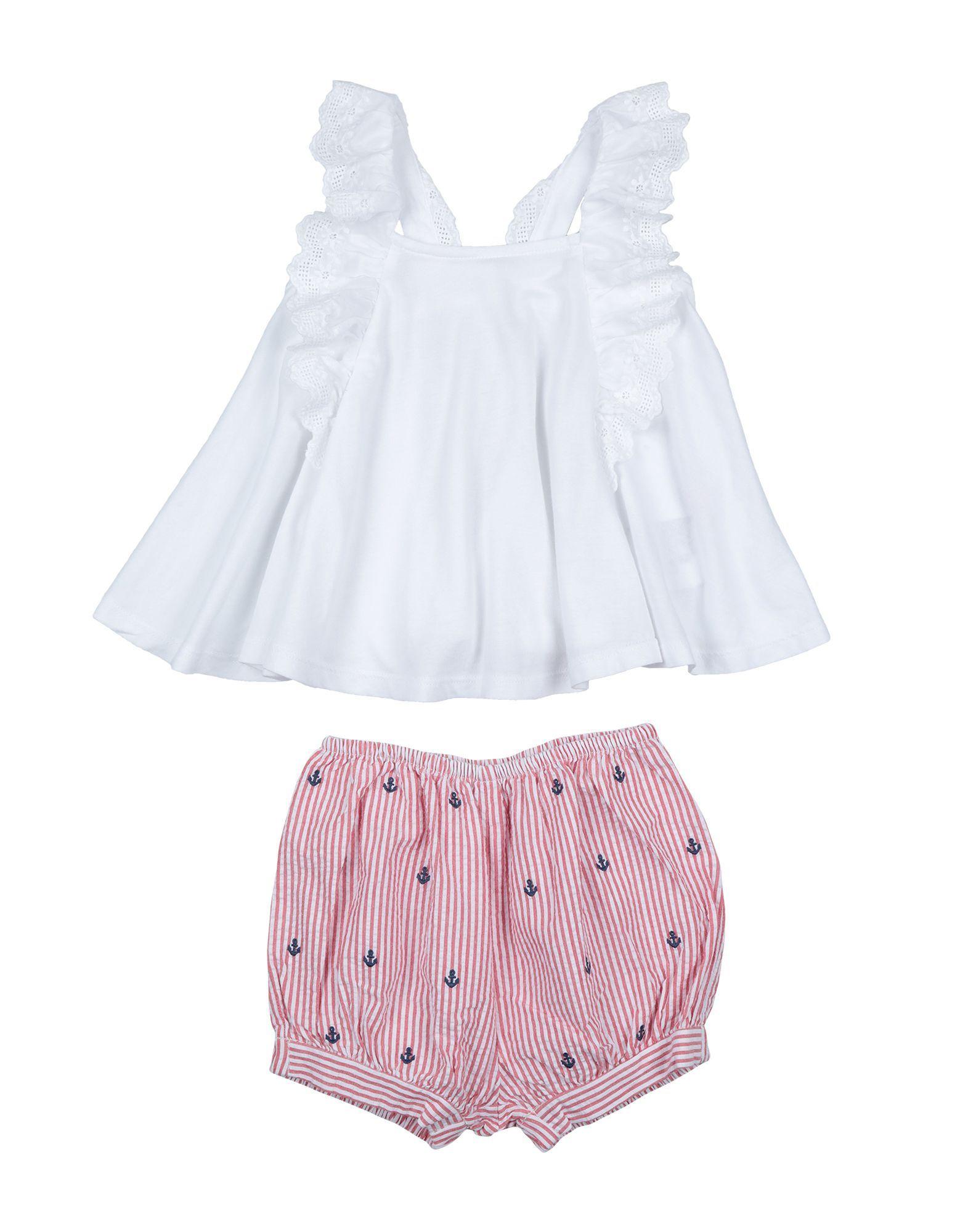 BODYSUITS & SETS Girl Ralph Lauren White Cotton