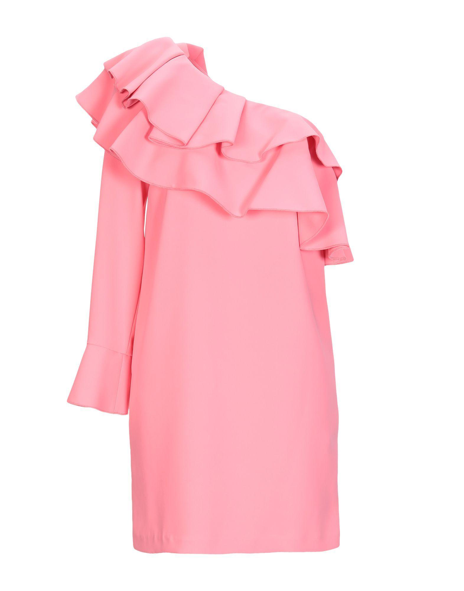 Ki6? Who Are You? Pink Ruffle Asymmetrical Dress