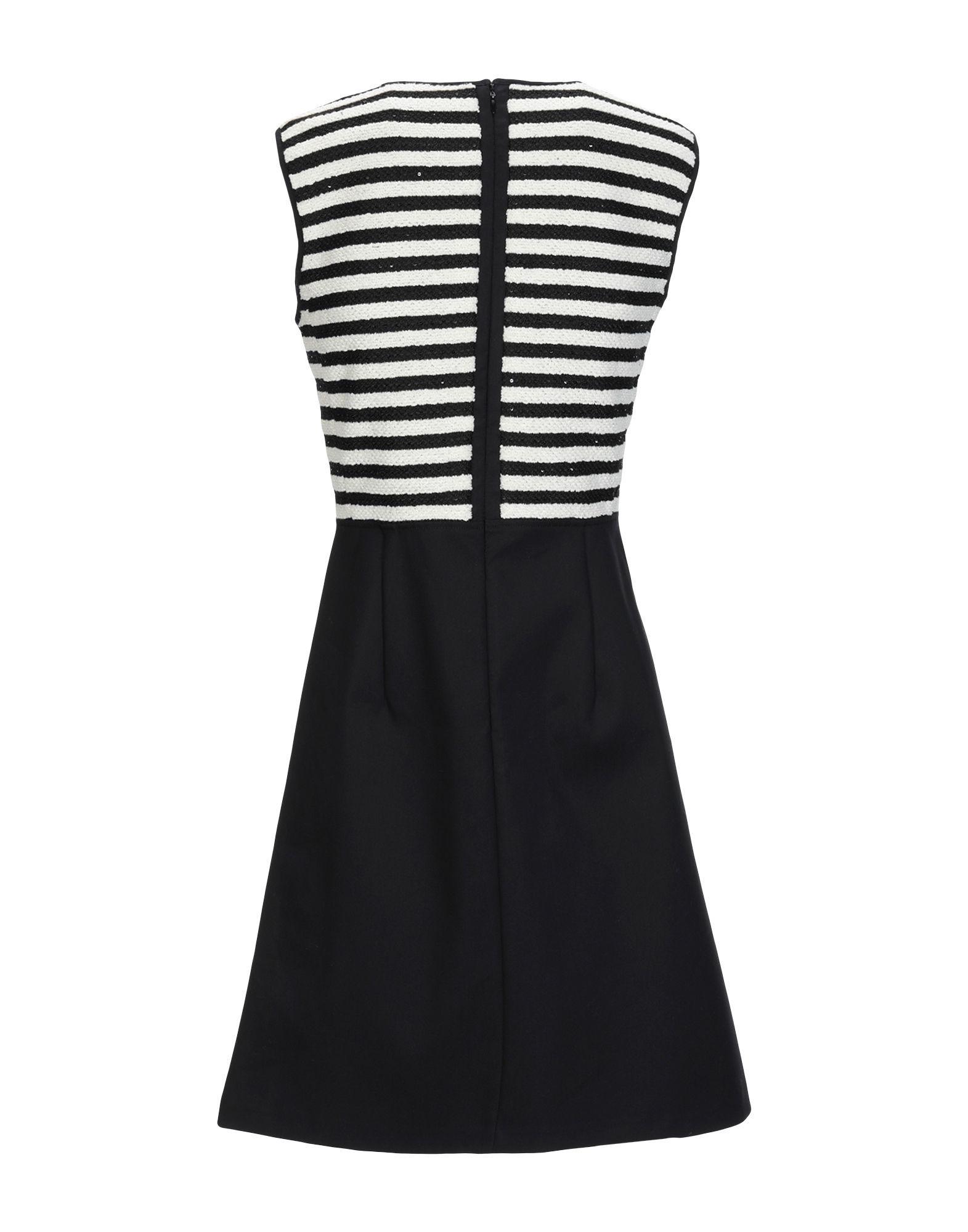 Atos Lombardini Ivory Stripe Short Dress
