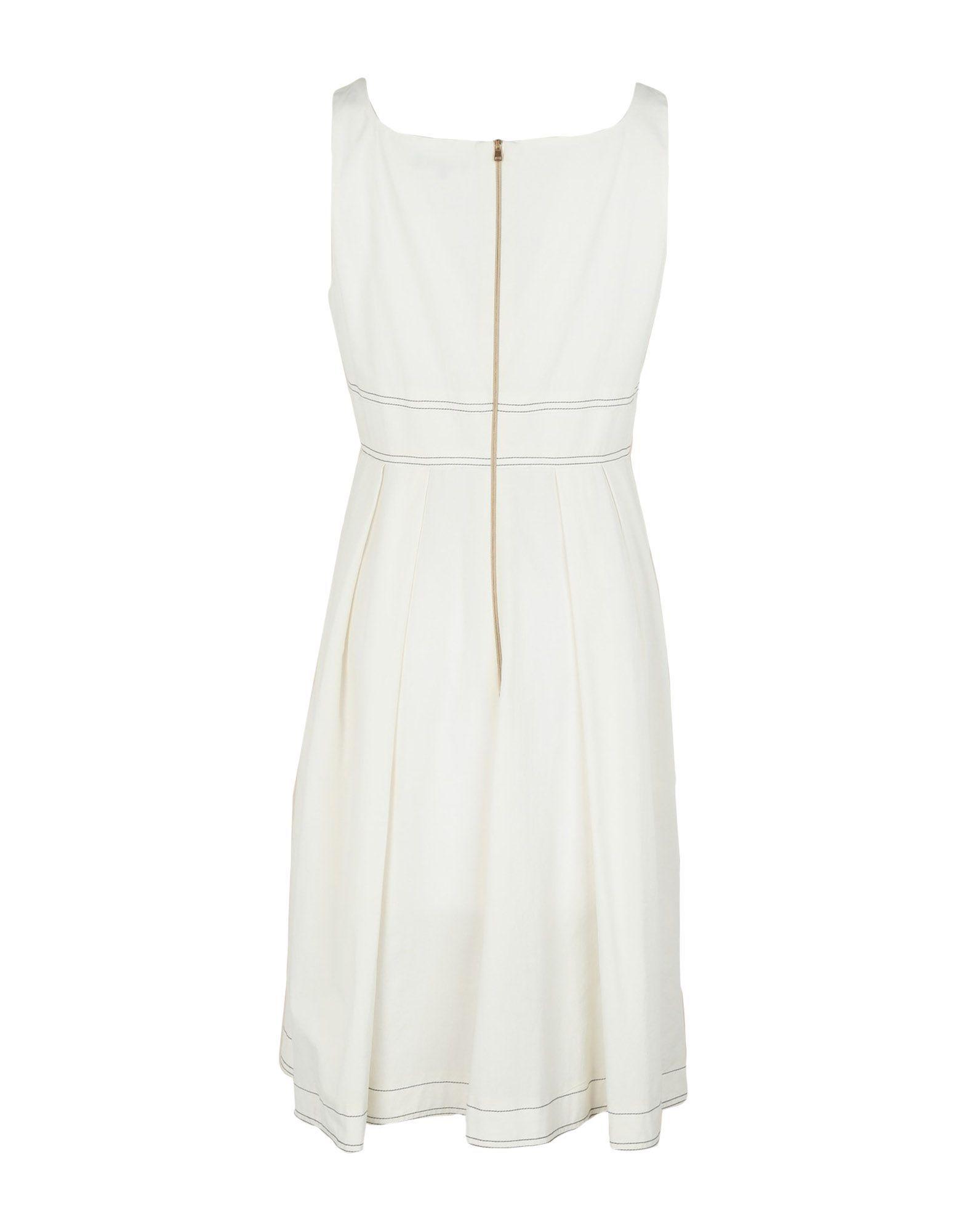 Tara Jarmon White Cotton Dress