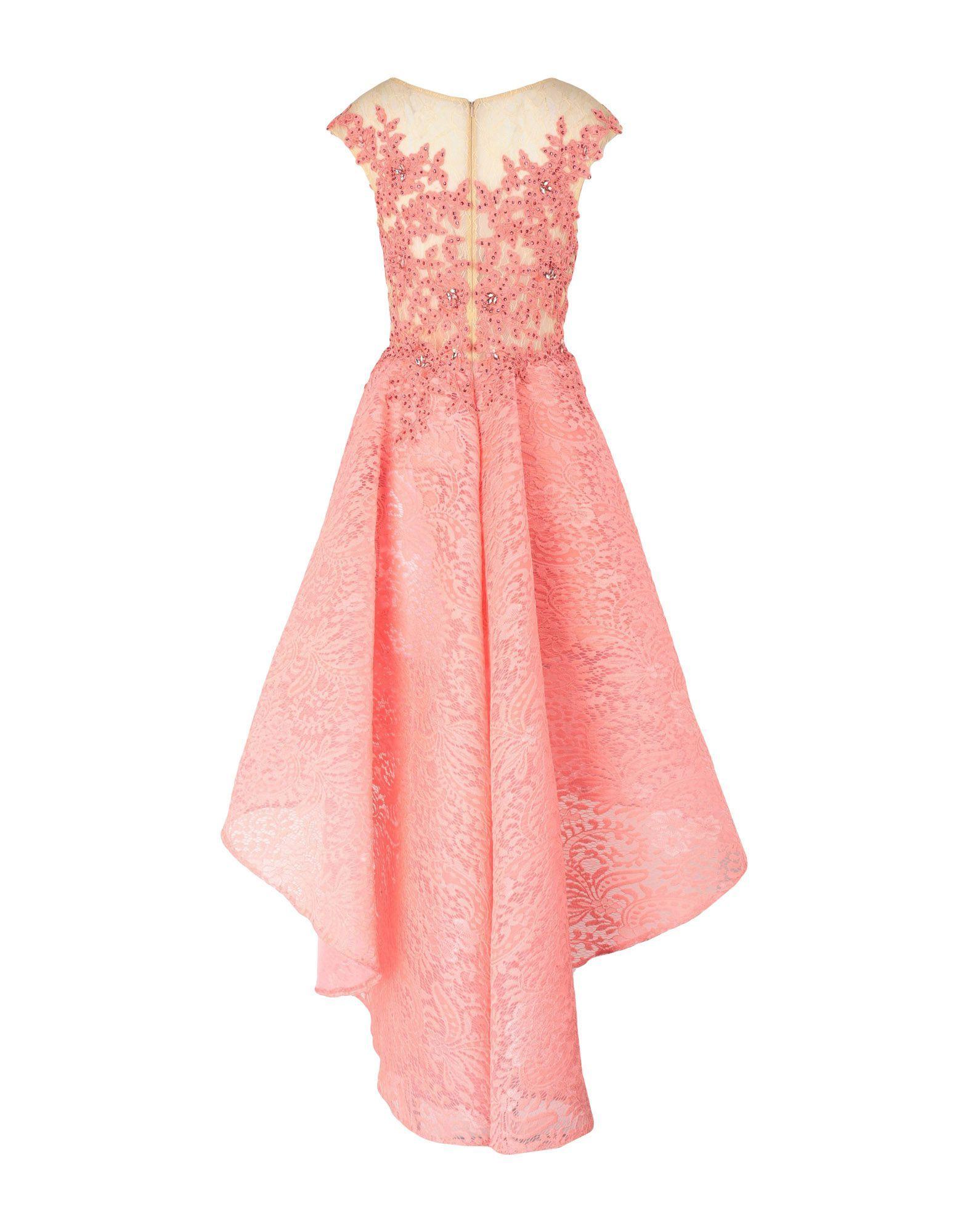 Forever Unique Coral Lace Embellished Dress