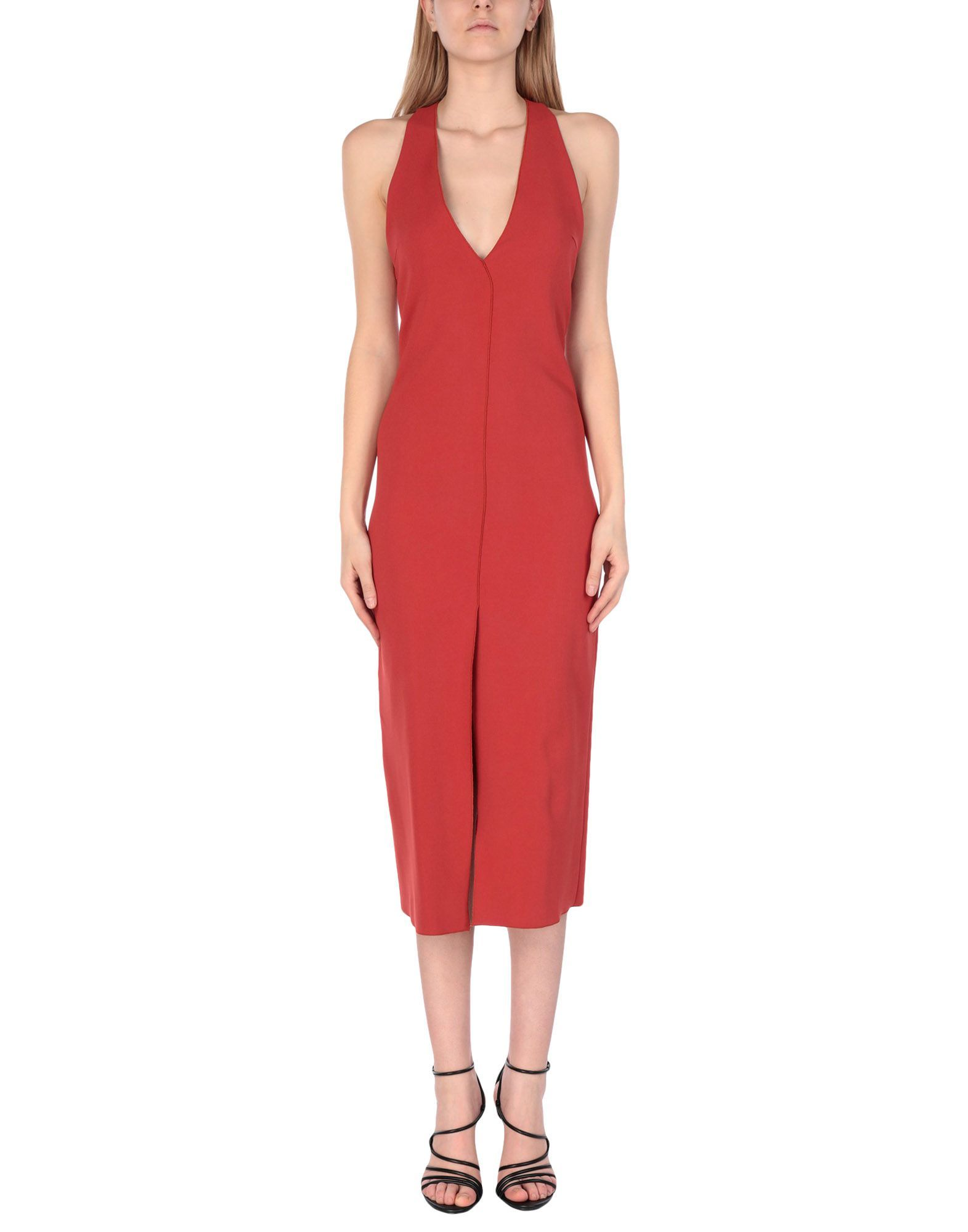Antonelli Rust Sleeveless Dress