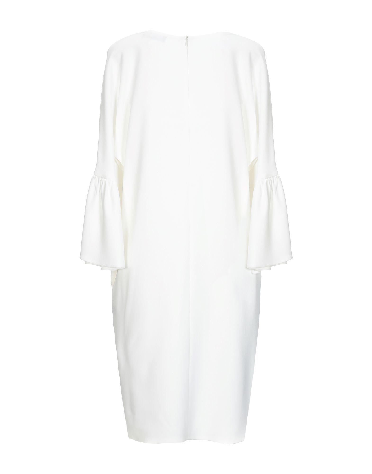 Antonelli White Crepe Long Sleeve Dress