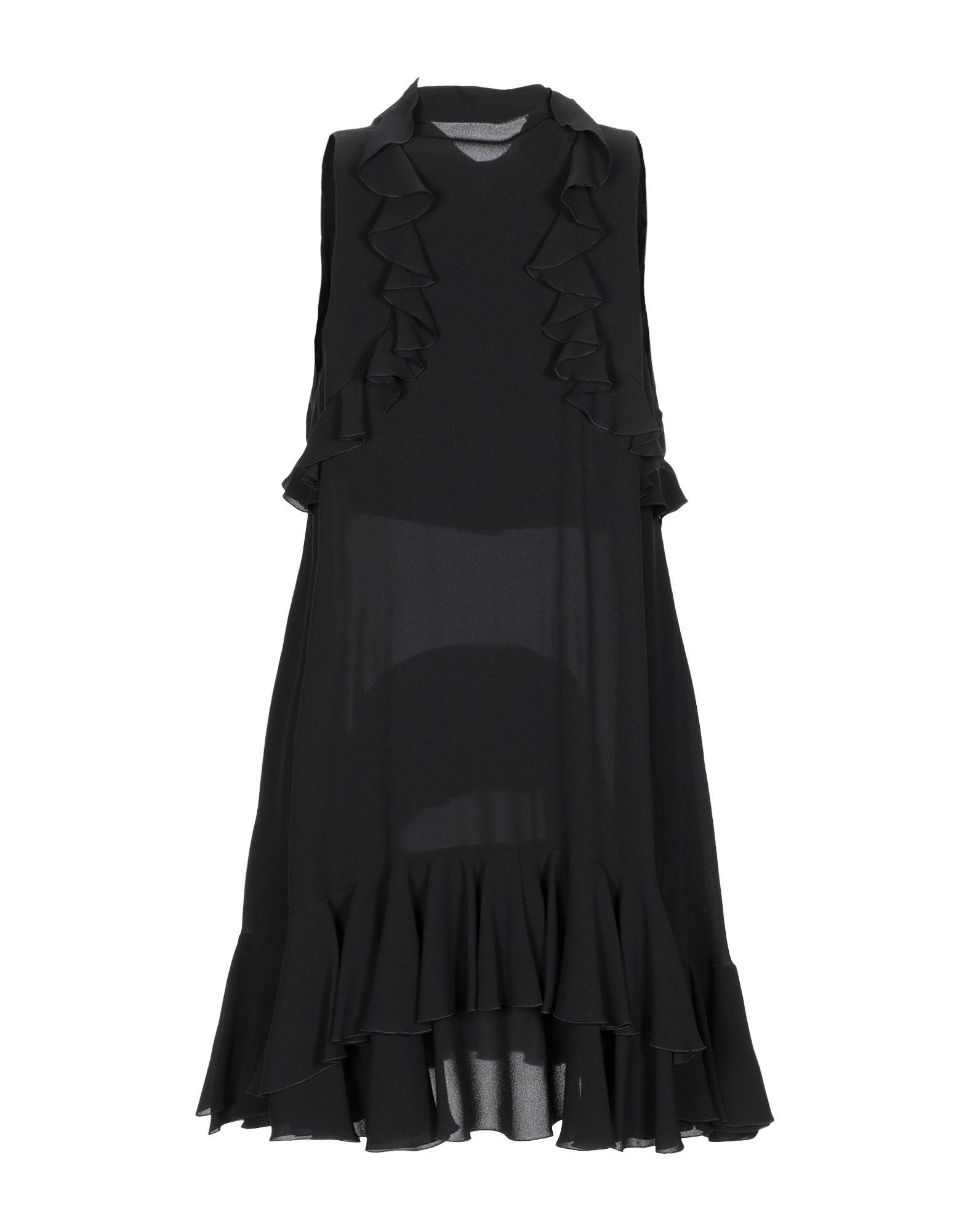 Alexander McQueen Black Silk Sleeveless Shirt Dress