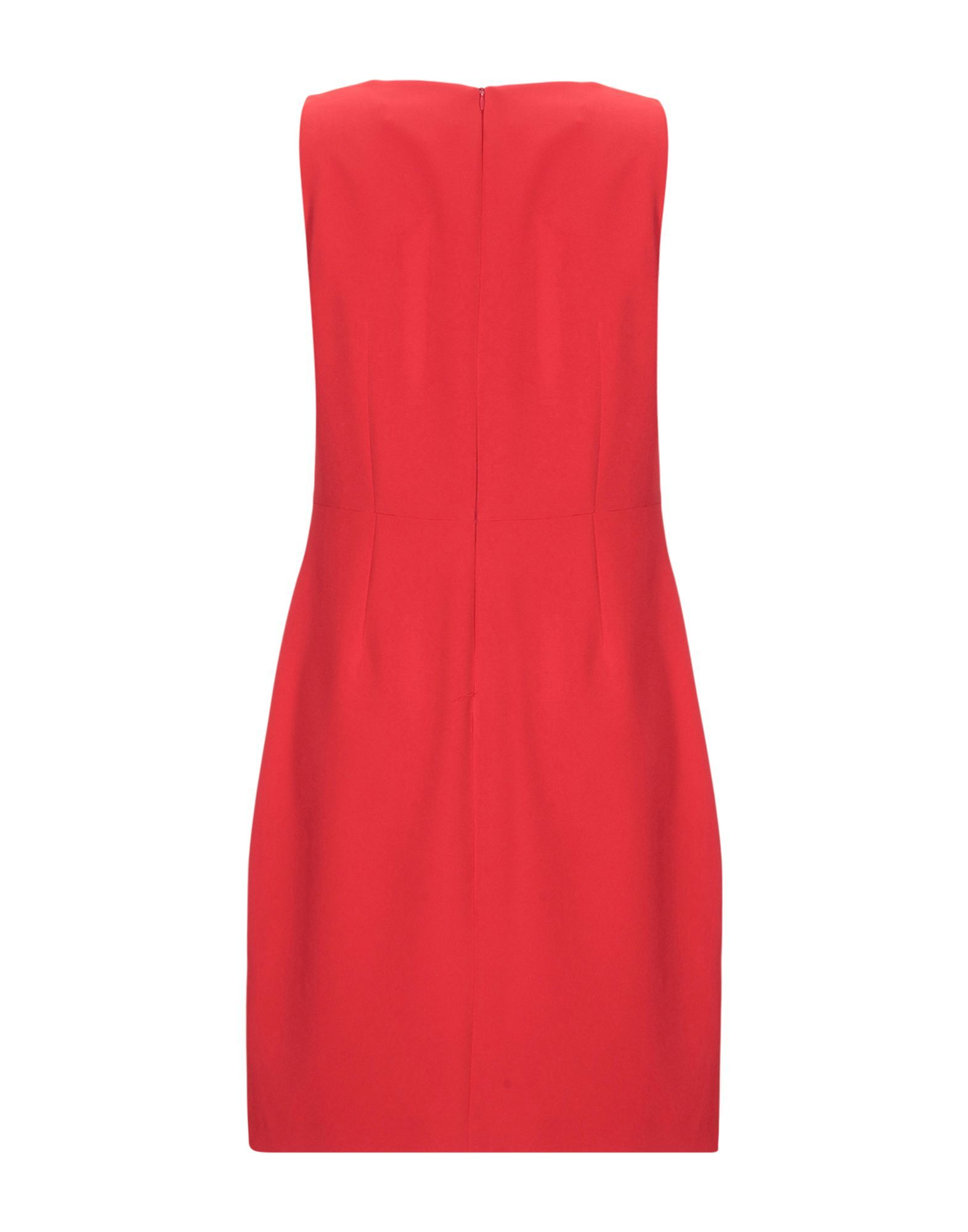 Blugirl Blumarine Red Crepe Ruffle Sleeveless Dress