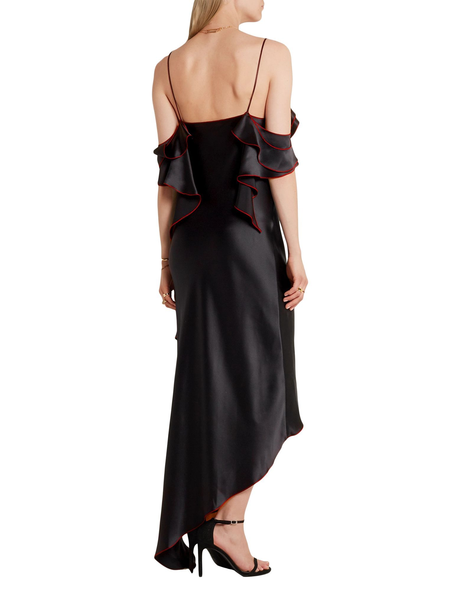 Juan Carlos Obando Black Silk Dress