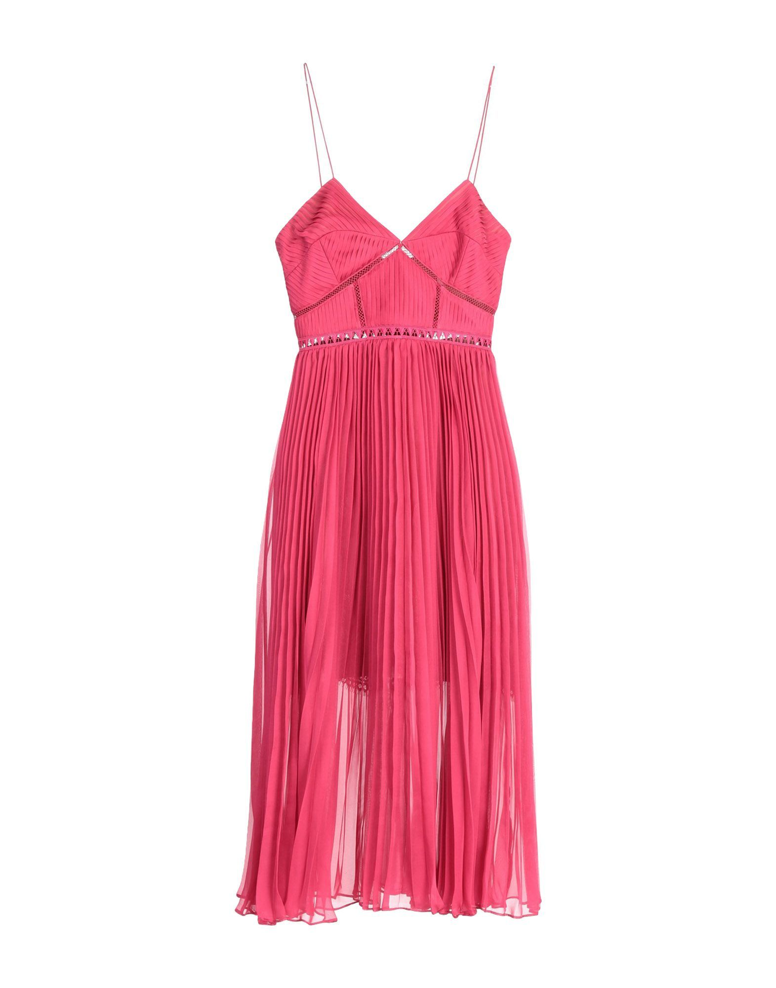 Self-Portrait Garnet Lace Camisole Dress