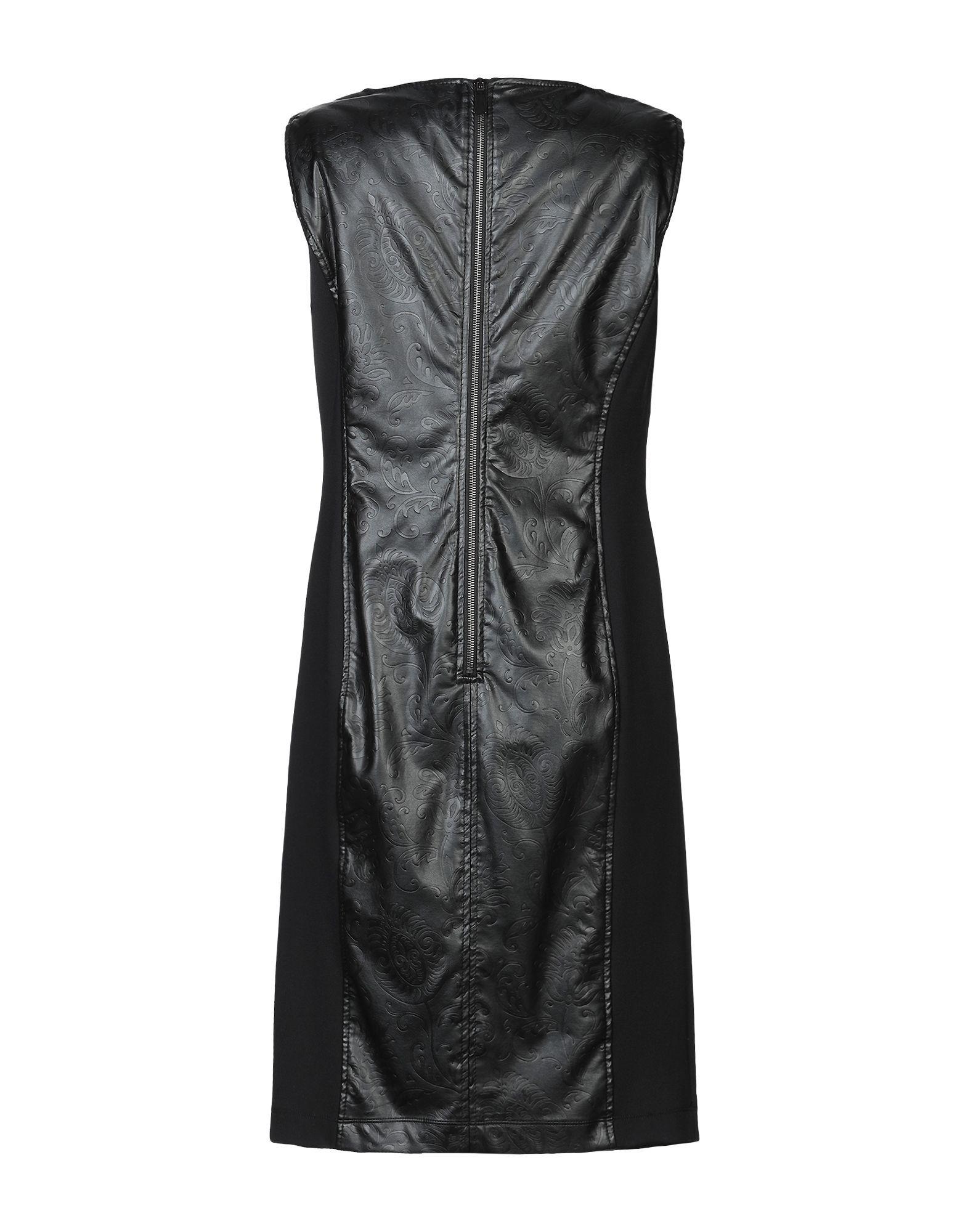 DRESSES Woman Clips Black Polyuretanic
