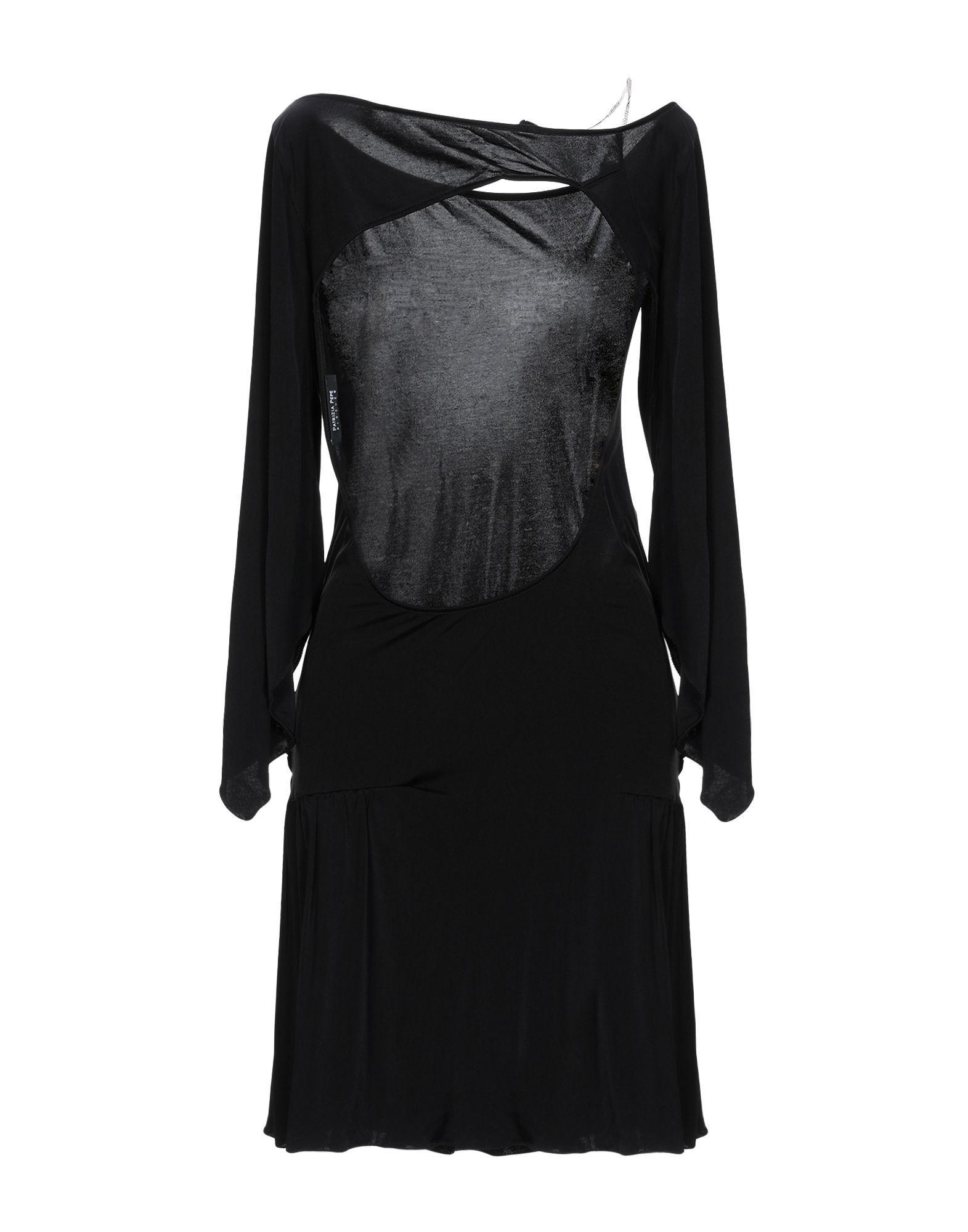 Patrizia Pepe Black Jersey Long Sleeve Dress