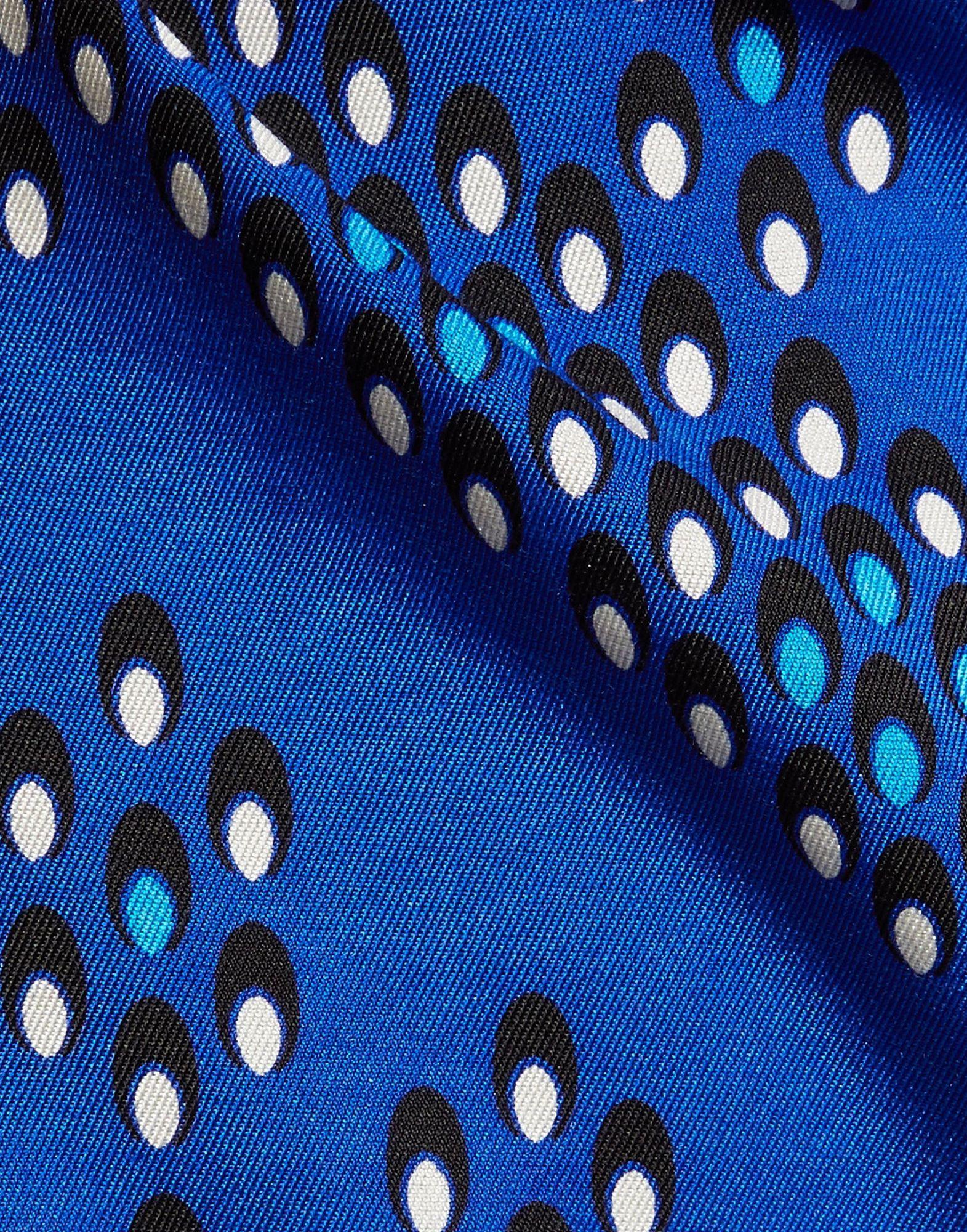 Diane Von Furstenberg Blue Print Wool Dress