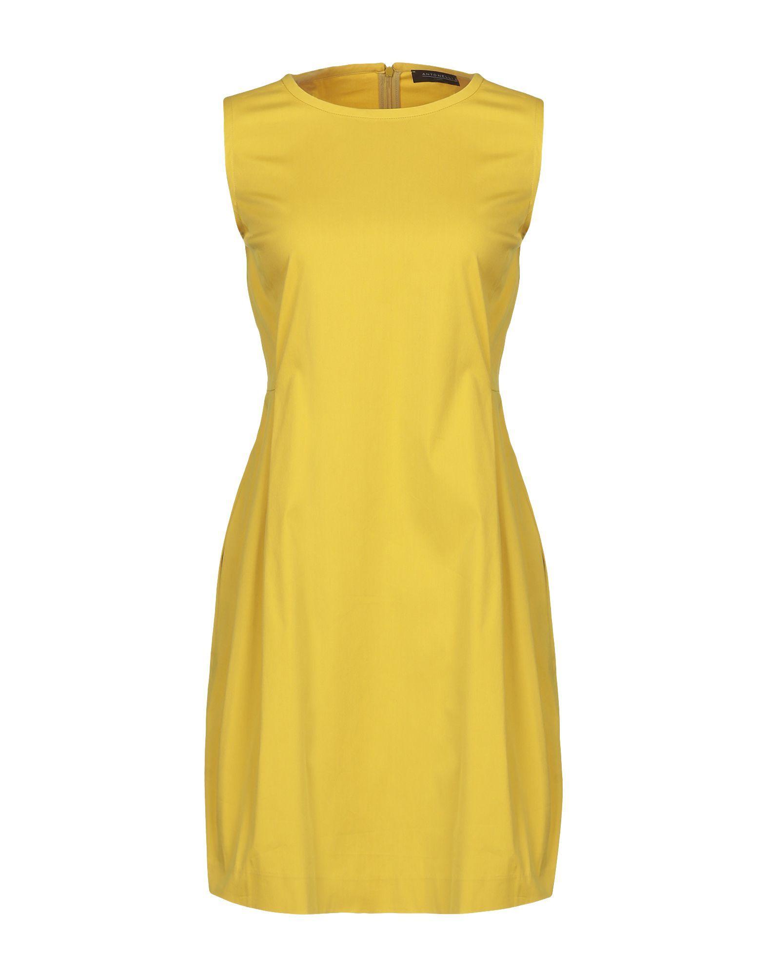 Antonelli Yellow Cotton Dress