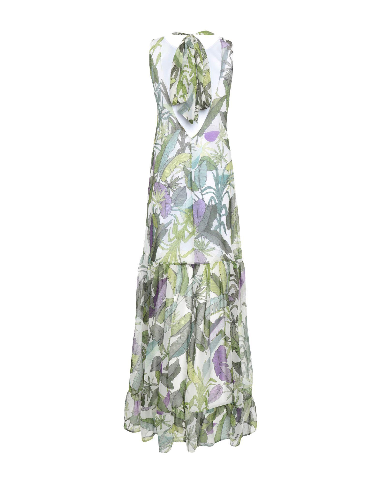 Liu Jo Green Print Full Length Dress
