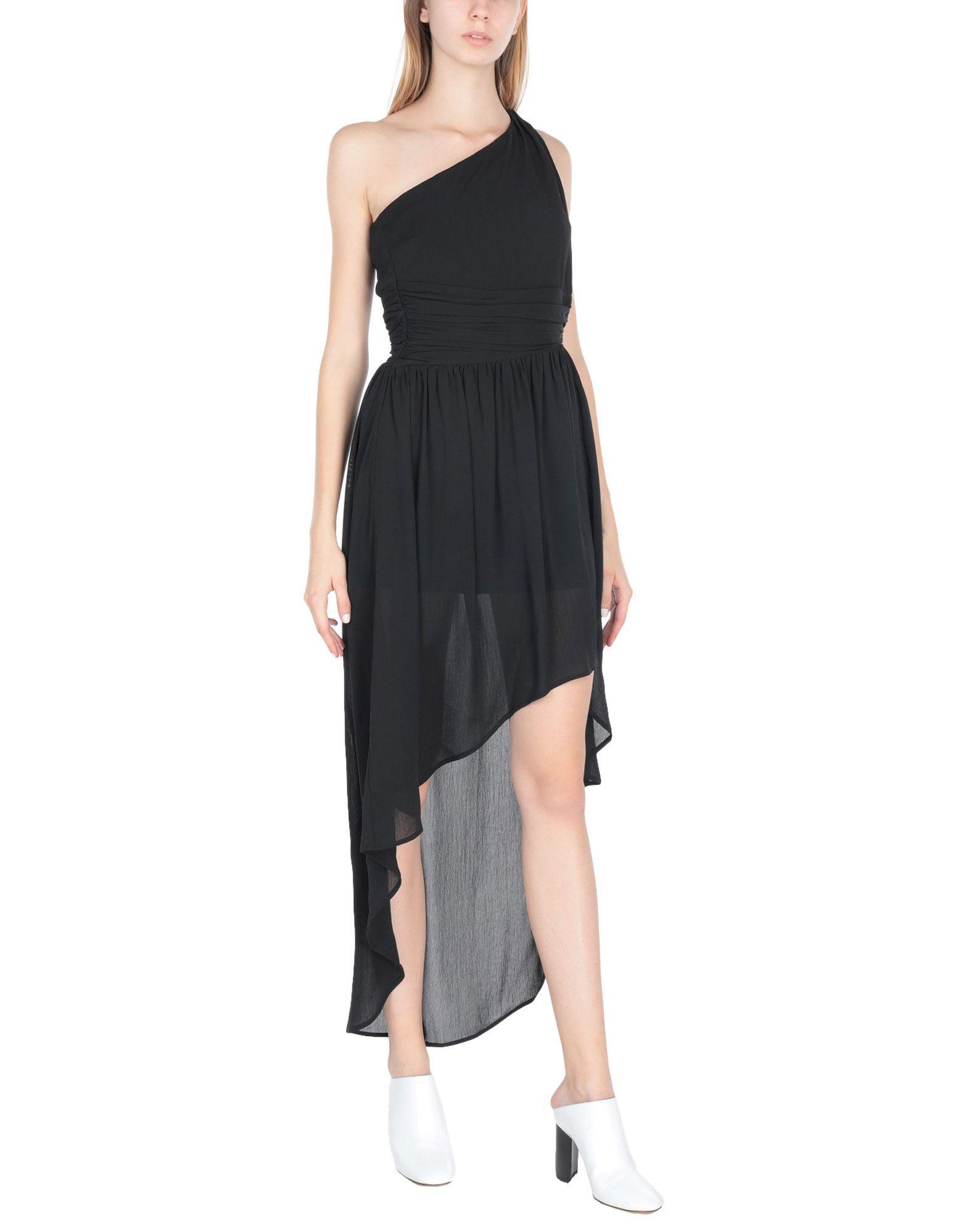 Koralline Black One Shoulder Dress