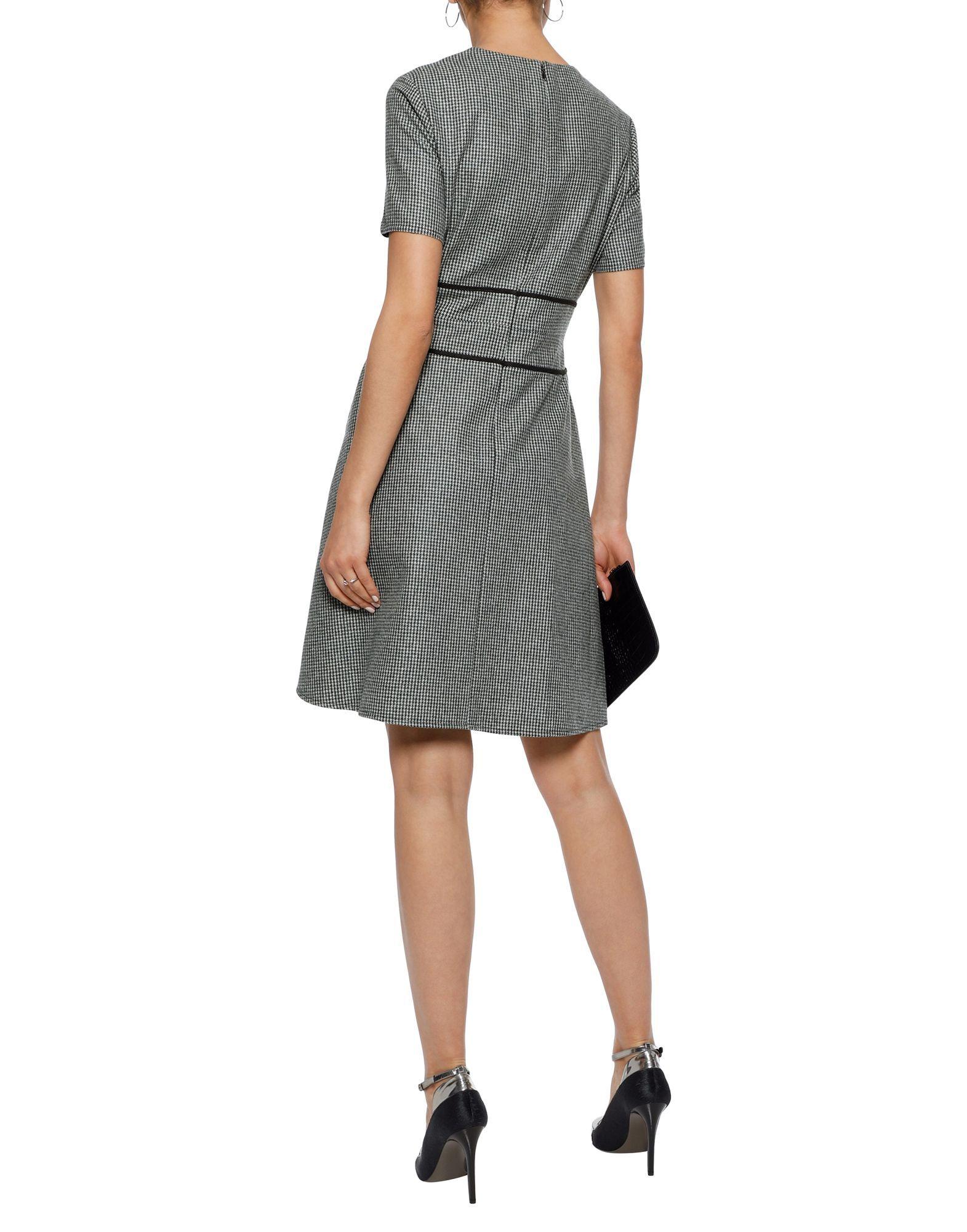 Raoul Green Wool Short Sleeve Dress