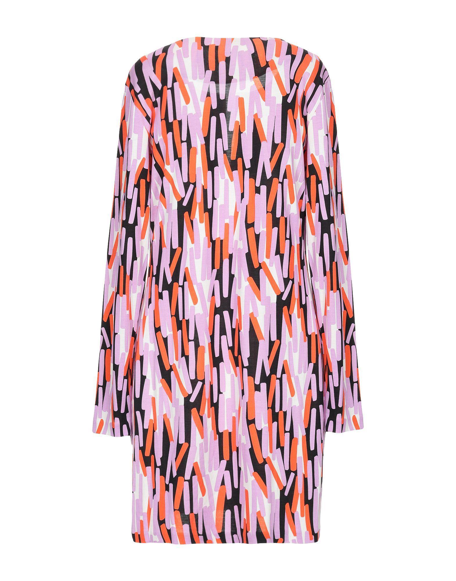 Diane Von Furstenberg Orange Print Silk Dress